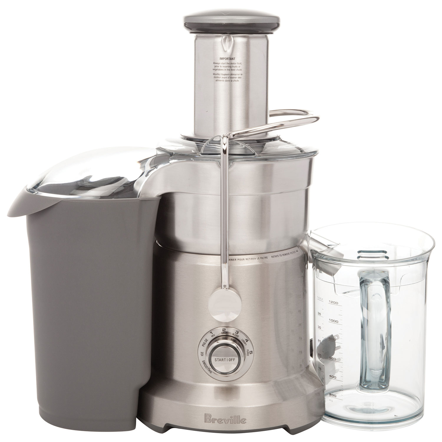 breville juice u0026 blend centrifugal juicer silver blenders best buy canada