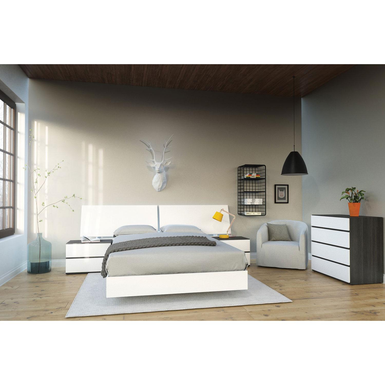 nexera furniture website. Allure 2-Drawer Nightstand - White/Ebony : Nightstands Best Buy Canada Nexera Furniture Website