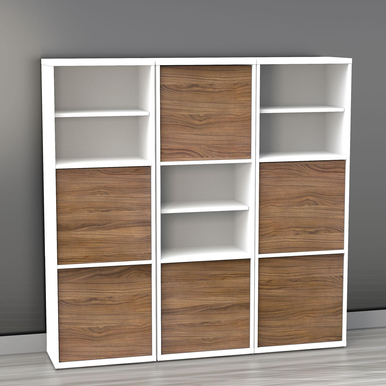 cube bookcases horsens  cube bookshelf white officeworks  - libert shelf bookcase whitewalnut brown bookcases