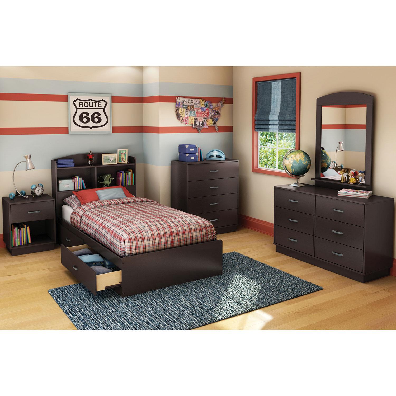 Logik Contemporary Storage Bed - Single - Chocolate Brown : Kids ...