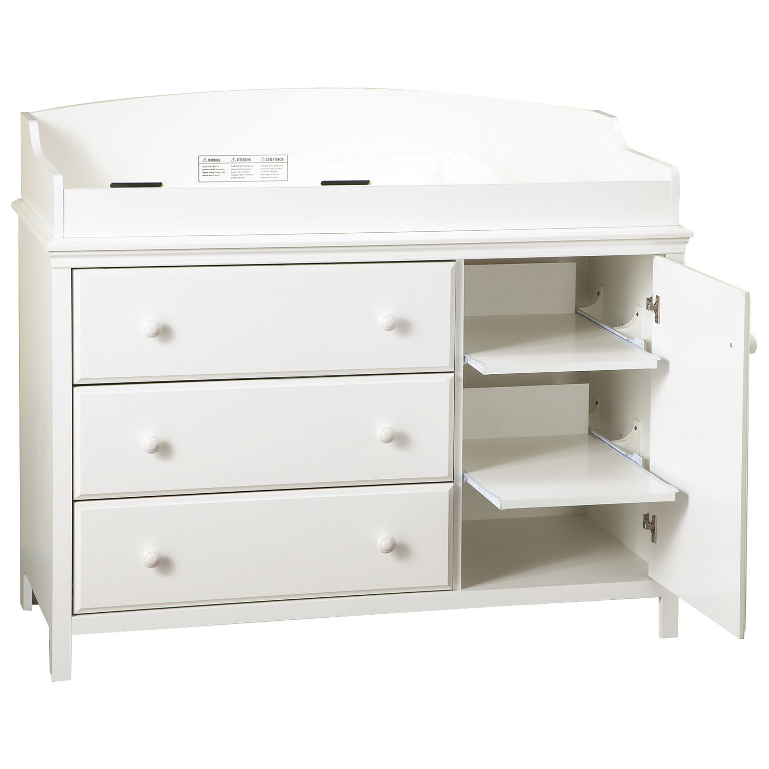 South Shore Cotton Candy Changing Table With Removable Changing Station    Pure White : Change Tables   Best Buy Canada