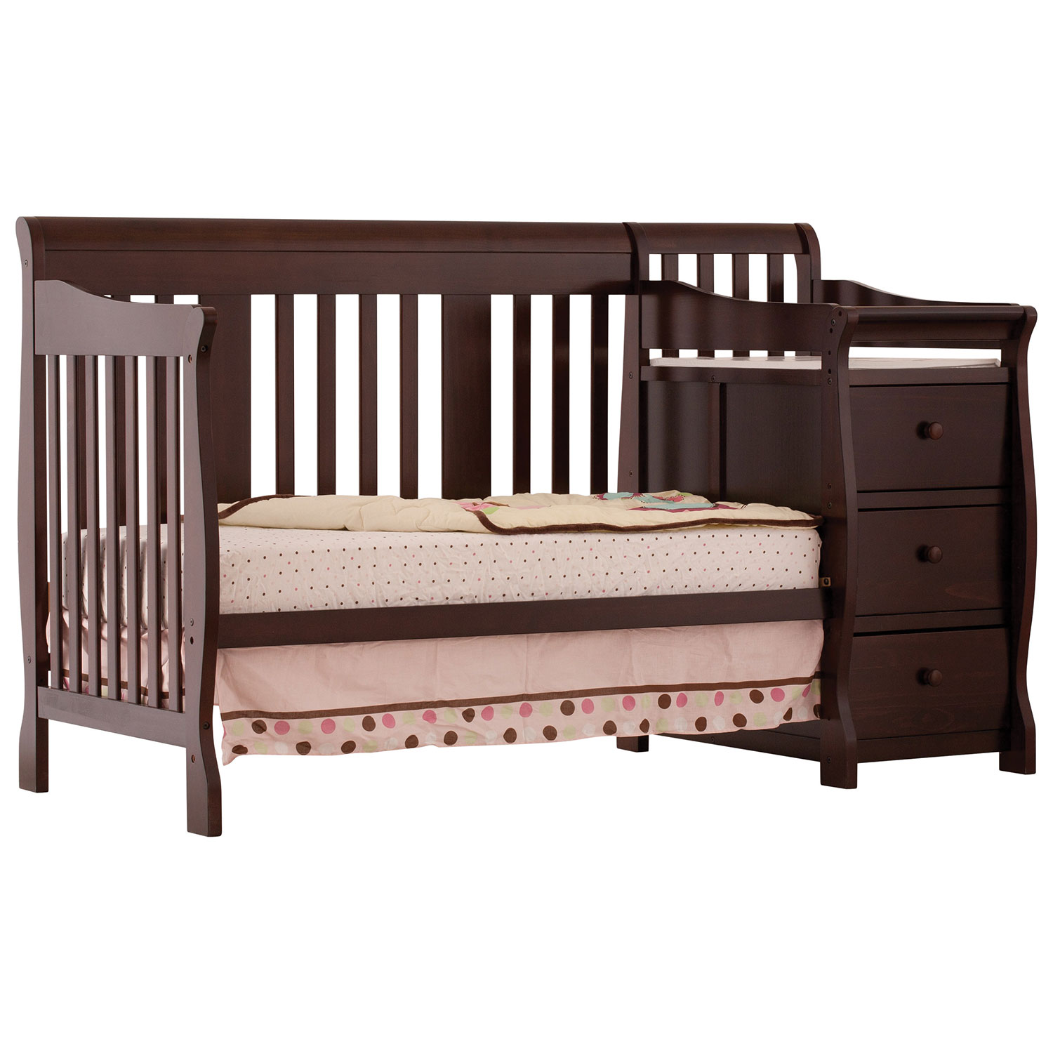 stork craft portofino in fixed side convertible crib changer  - stork craft portofino in fixed side convertible crib changer  espresso baby cribs  best buy canada