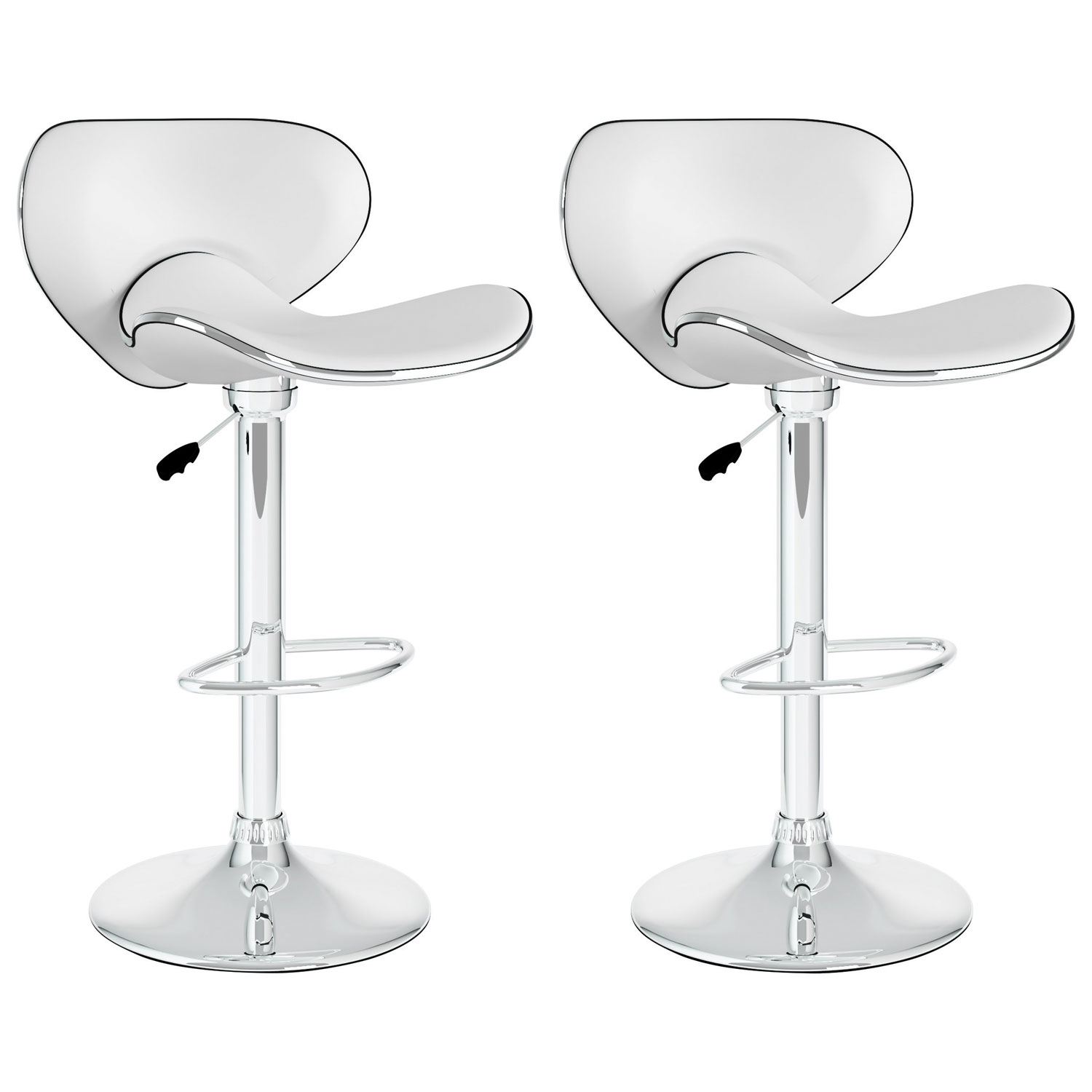 Contemporary Bar Stool Set Of 2 White Bar Stools Best Buy Canada
