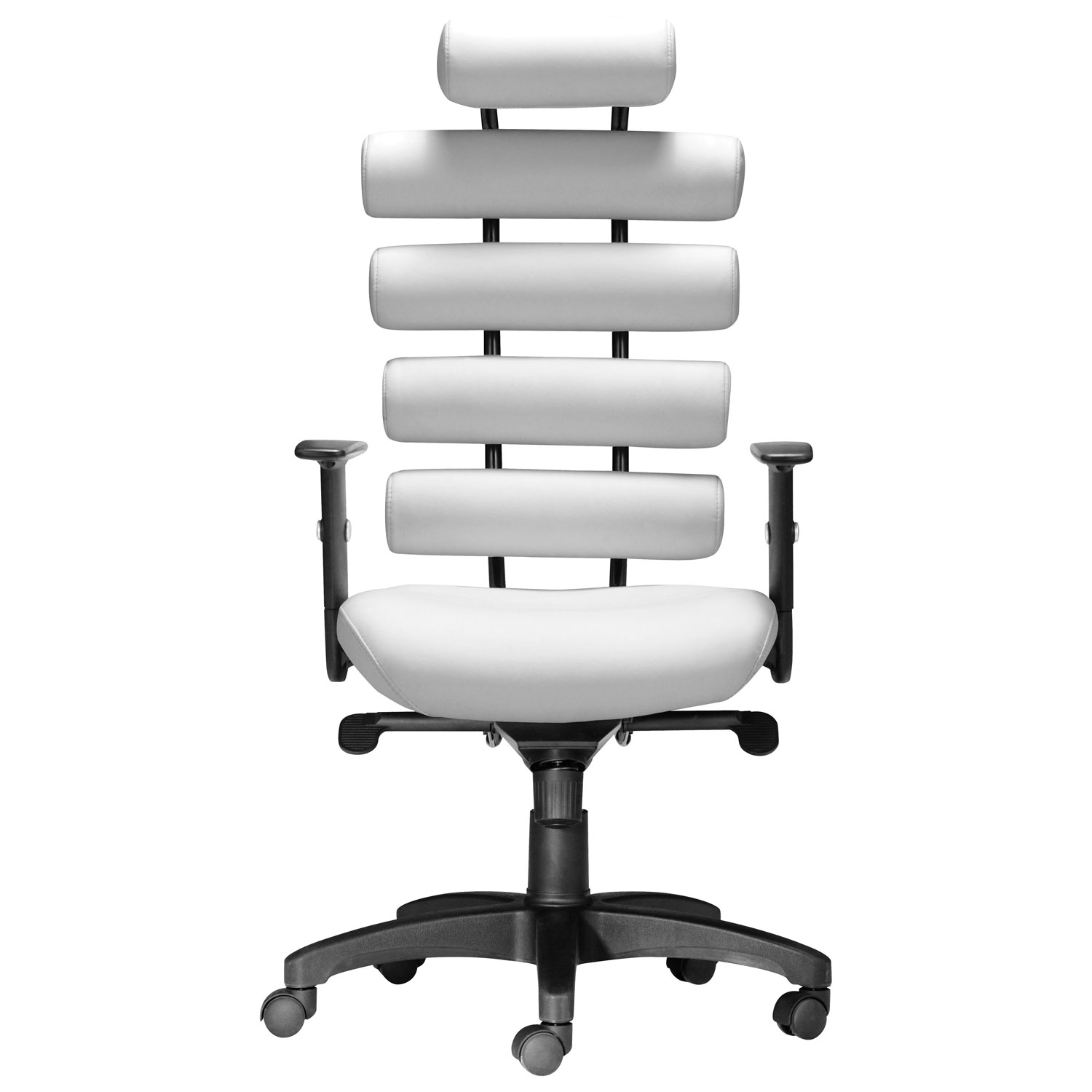 Zuo Unico Leatherette fice Chair White fice Chairs Best