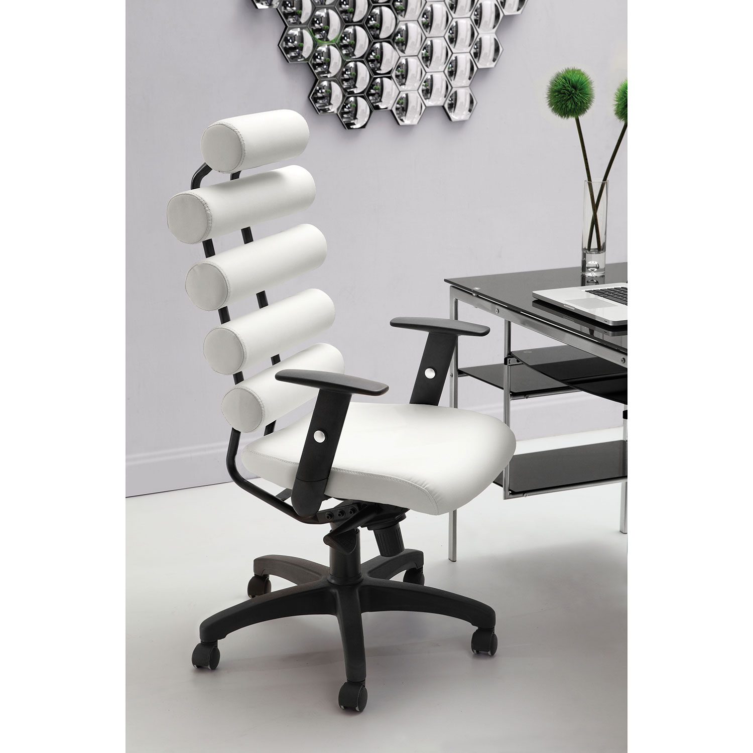 Zuo Unico Leatherette Office Chair   White : Office Chairs   Best Buy Canada