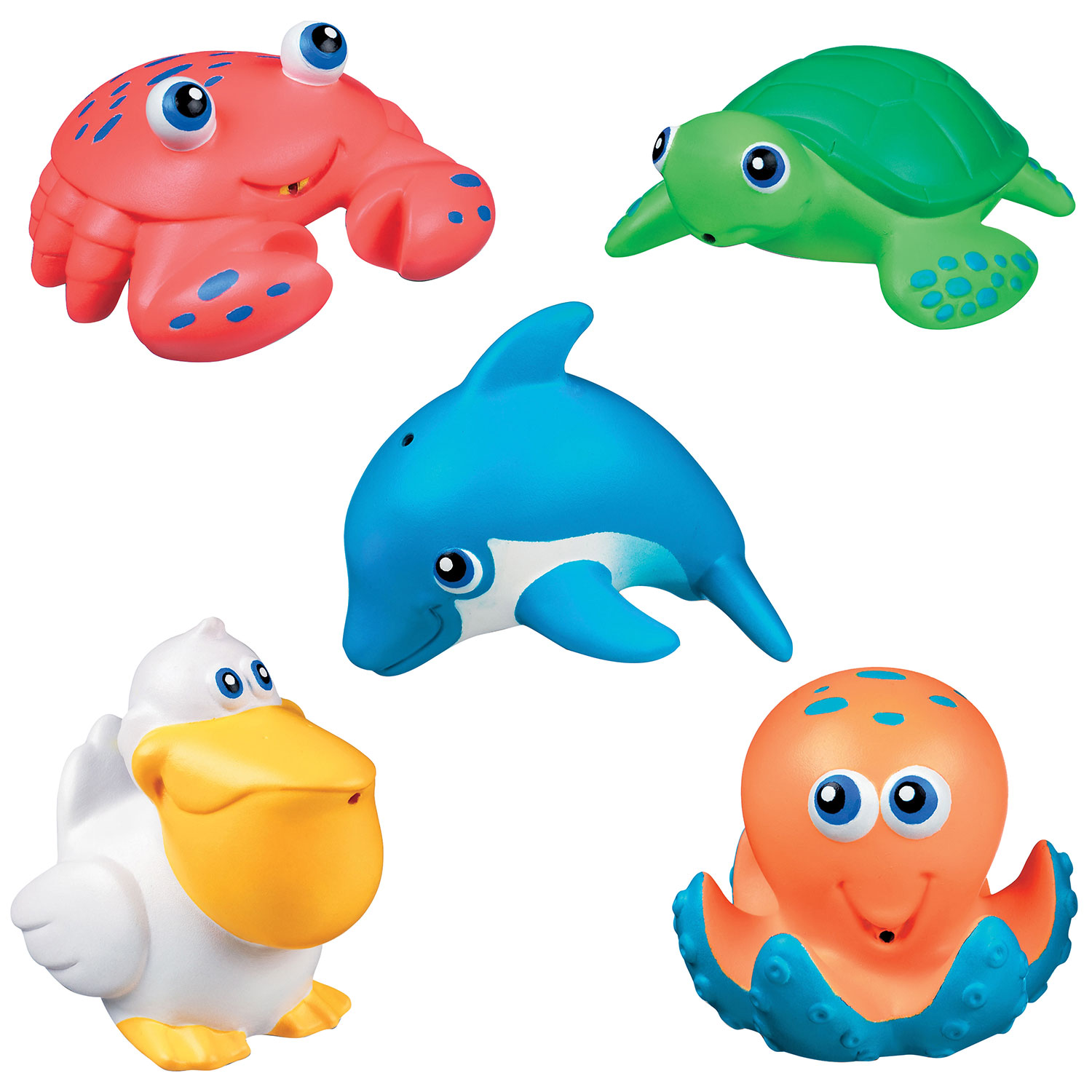Munchkin Squirtin\' Sea Buddies Bath Toy - 5 Pack - Multicolour ...