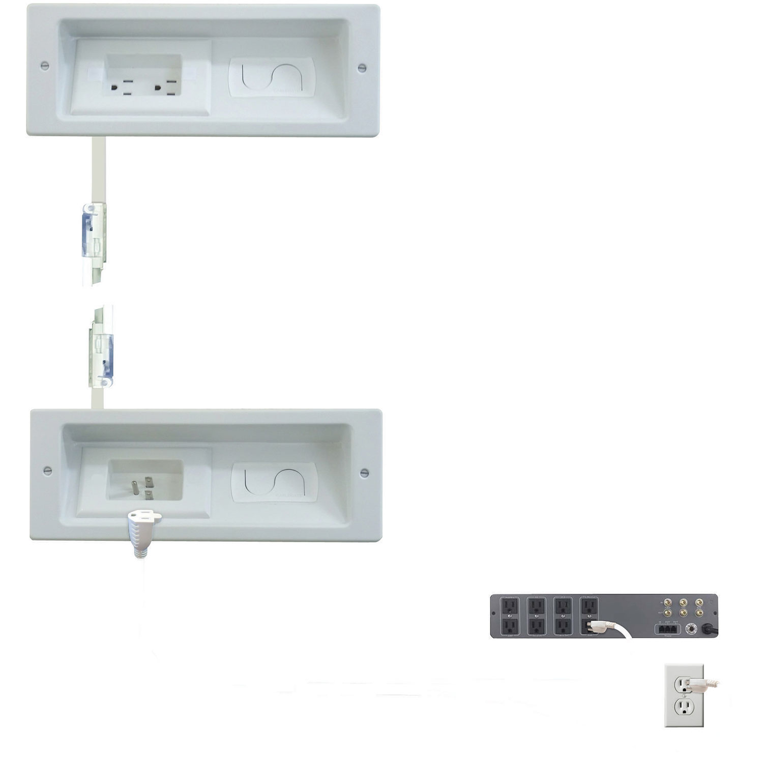 Sanus In Wall Wire Management System Elm806 W3 Cable Home Wiring Installation Guide Routing Audio And Media Best Buy Canada