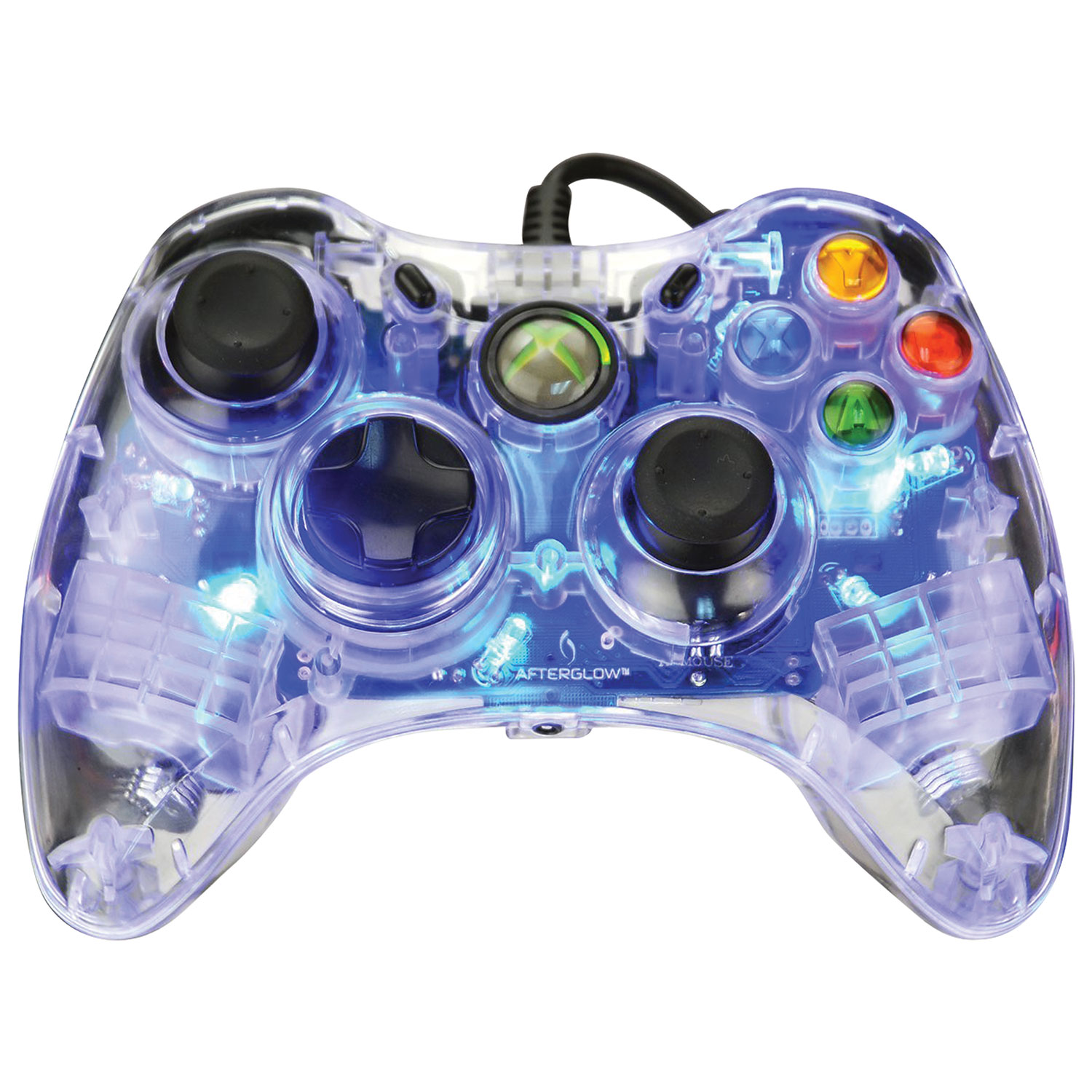 PDP Afterglow Controller for Xbox 360 - Blue : Xbox 360 Controllers ...