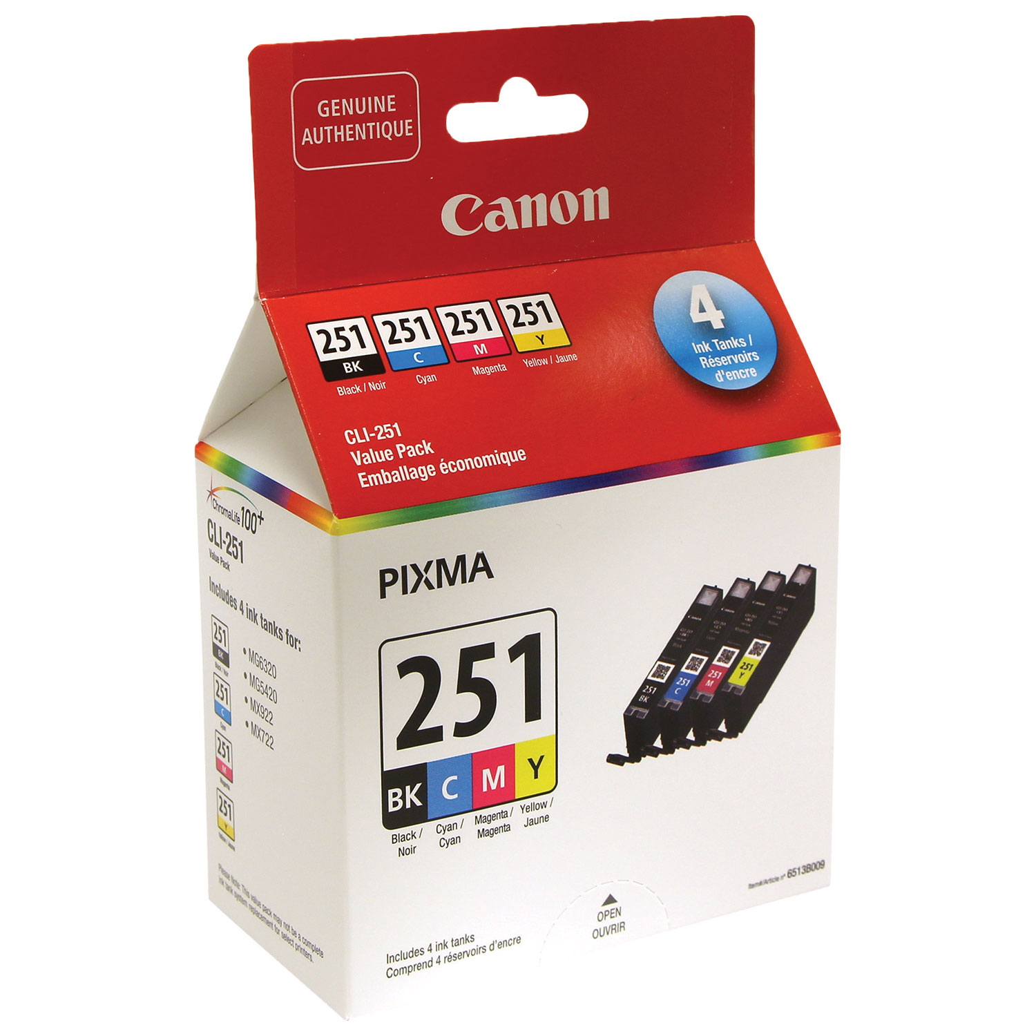 Canon Printer Ink Best Buy Canada Catridge Pg 47 Black Original 100 Pixma Cli 251 Cmyk 6513b009 4 Pack