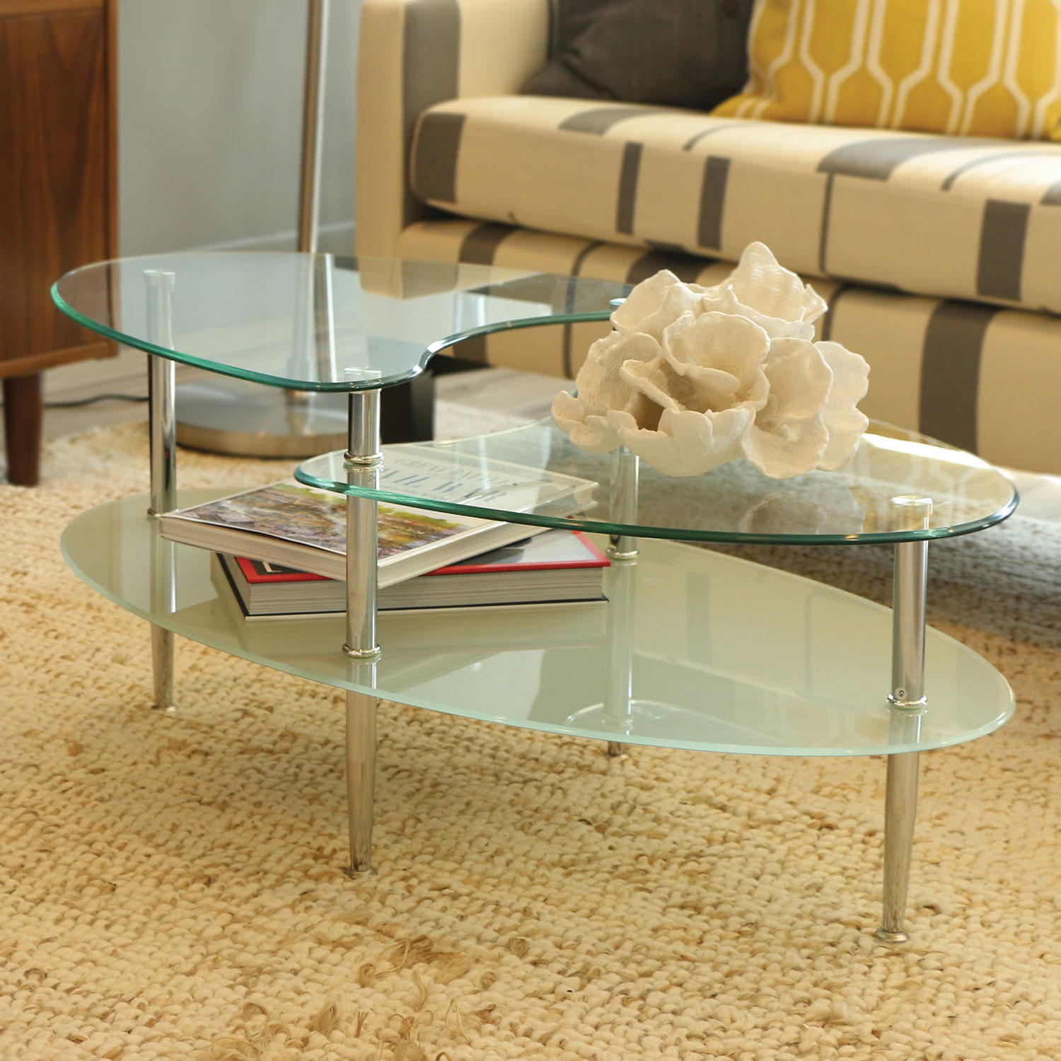 mariner glass oval coffee table  silver  coffee tables  best  - mariner glass oval coffee table  silver  coffee tables  best buy canada