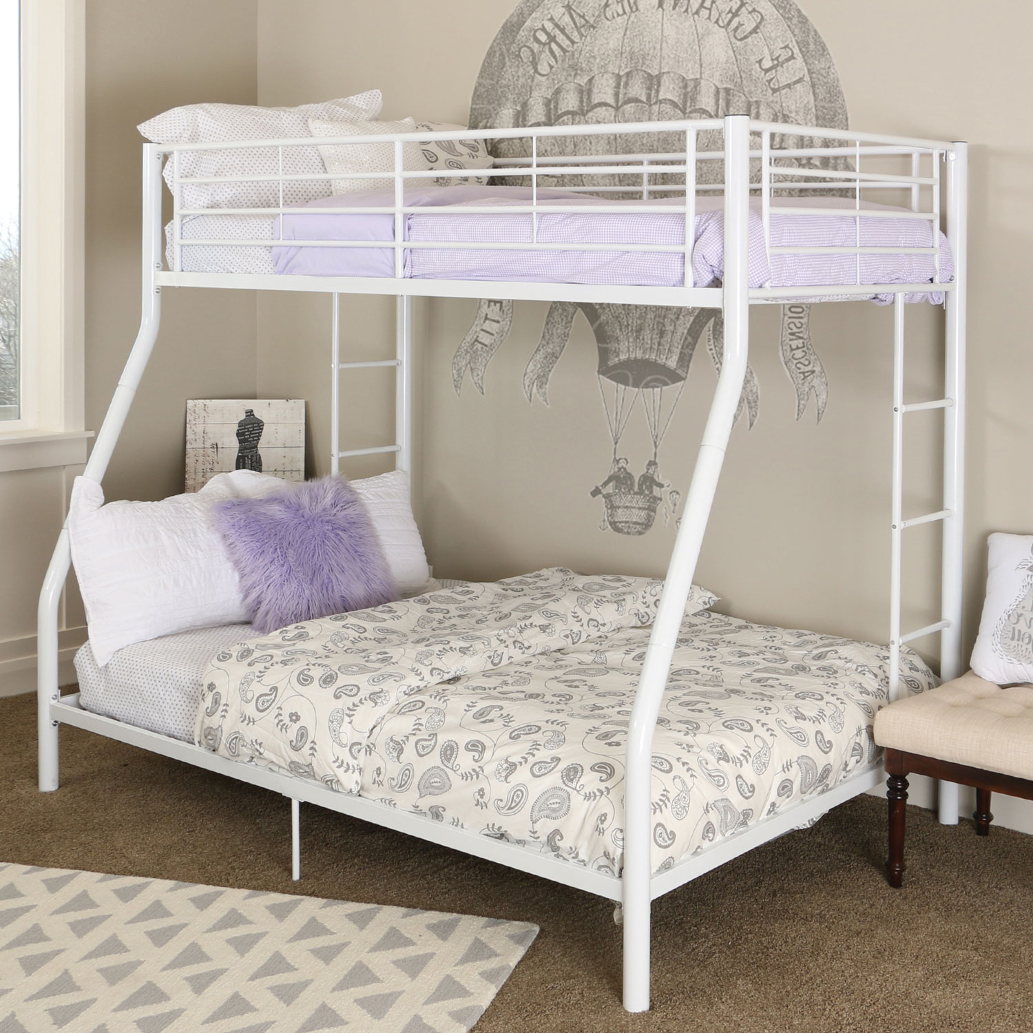 Contemporary Bunk Bed Twin Double White Best Buy Canada