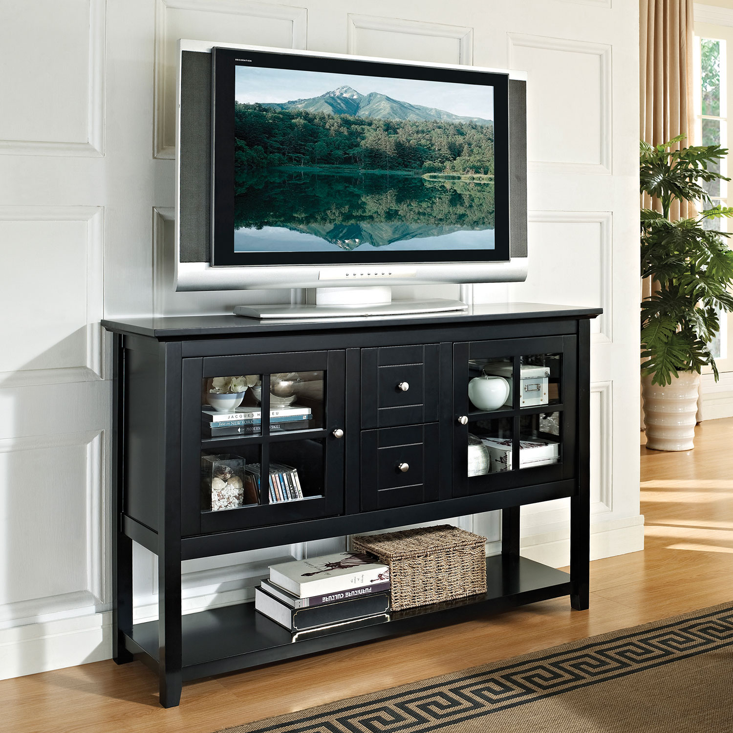 walker edison  console tv stand  black  tv stands  best buy  - walker edison  console tv stand  black  tv stands  best buy canada