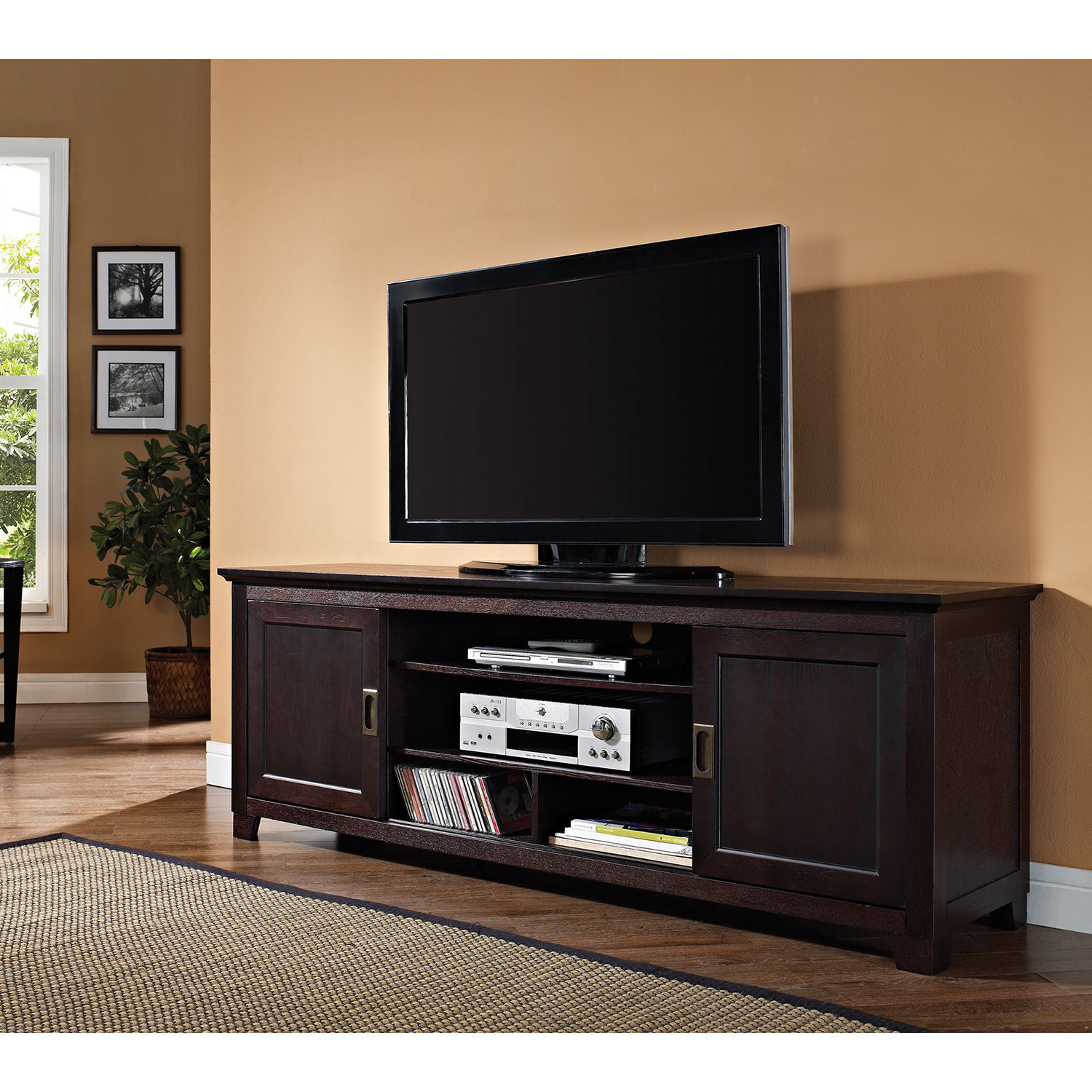 walker edison  tv stand  espresso  tv stands  best buy canada -