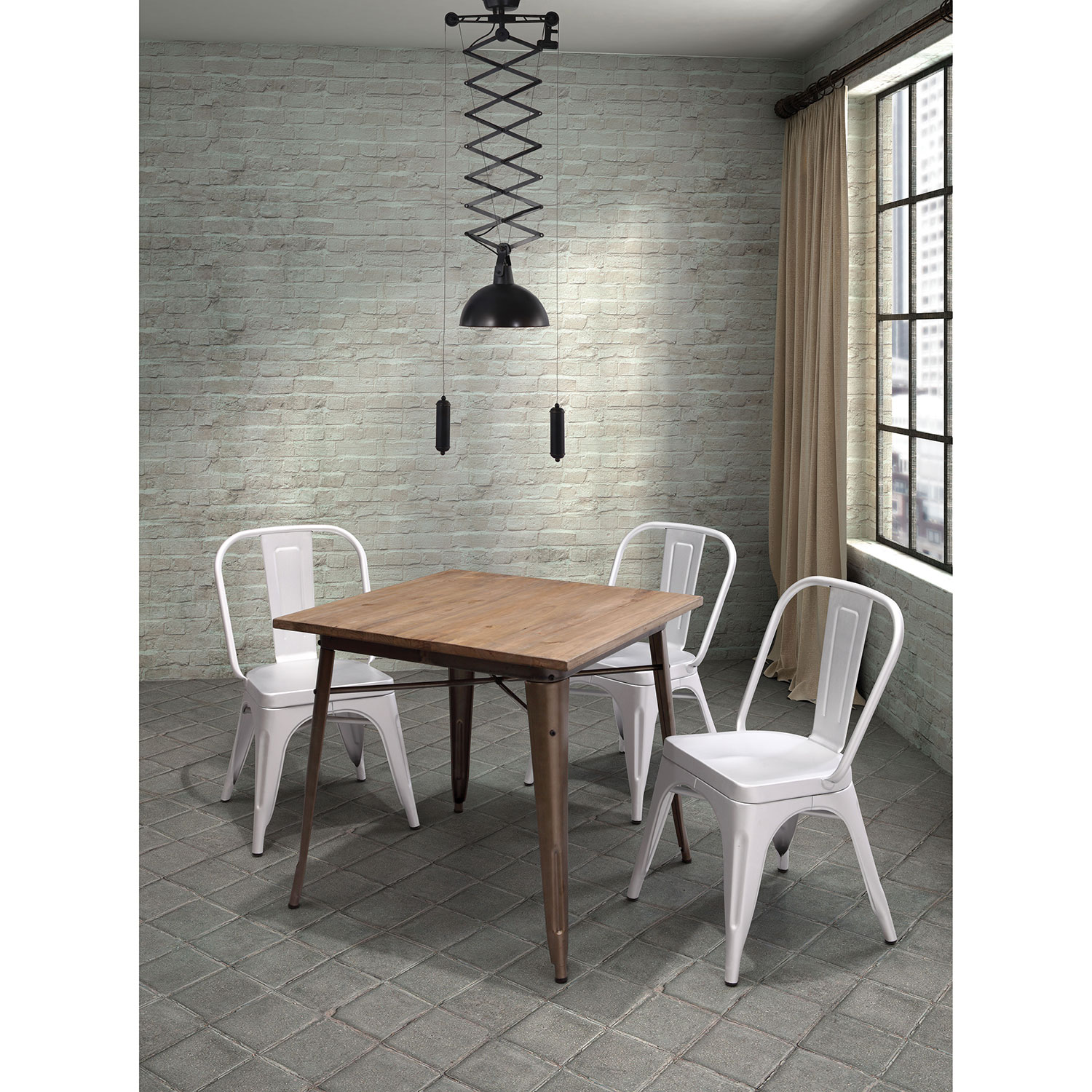 Titus Transitional Square Dining Table   Rustic Wood : Dining Tables   Best  Buy Canada