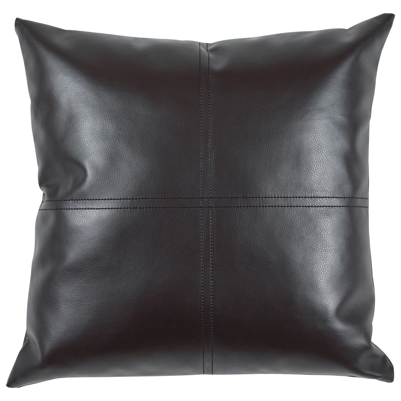 urban loft faux leather cushion ()  black  pillows  best  - urban loft faux leather cushion ()  black  pillows  best buy canada