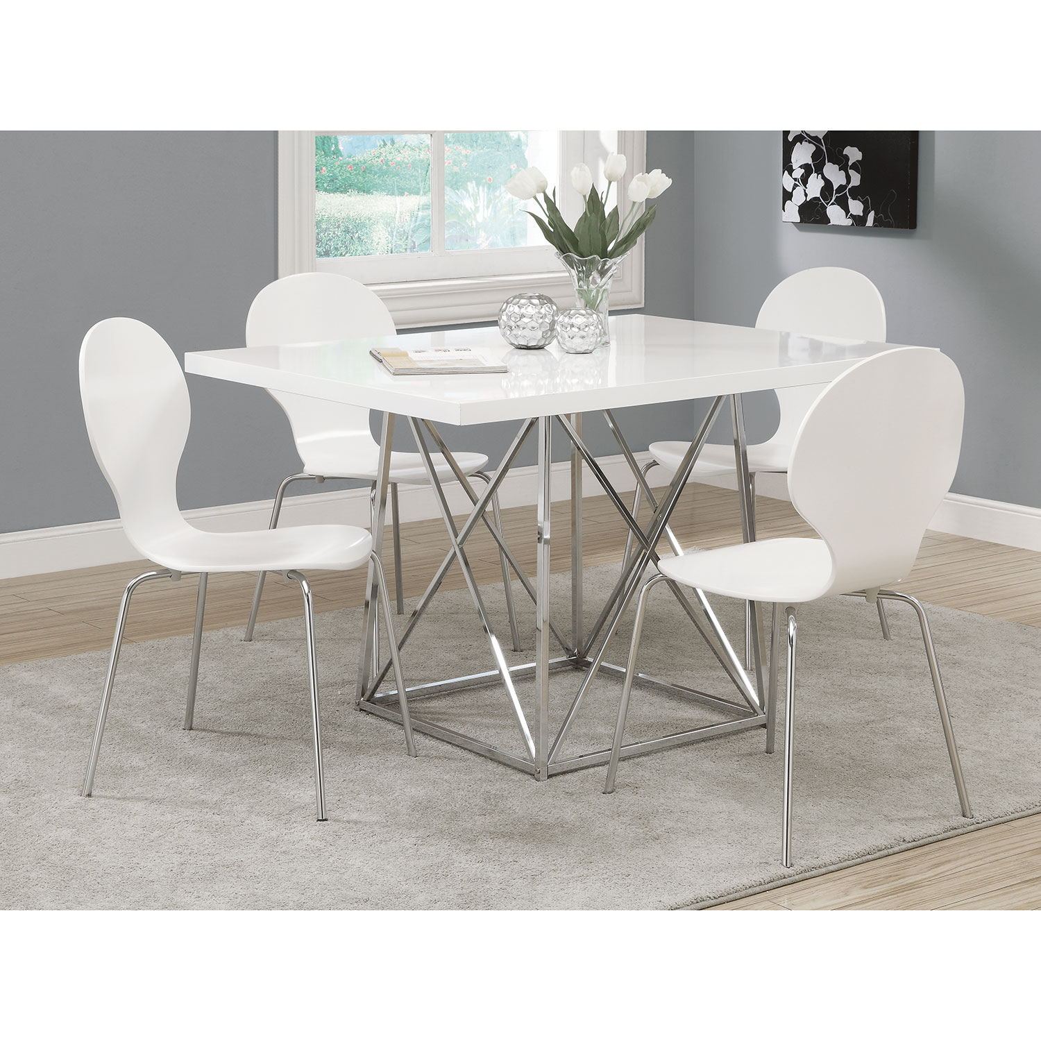 Contemporary Rectangular Dining Table   White : Dining Tables   Best Buy  Canada