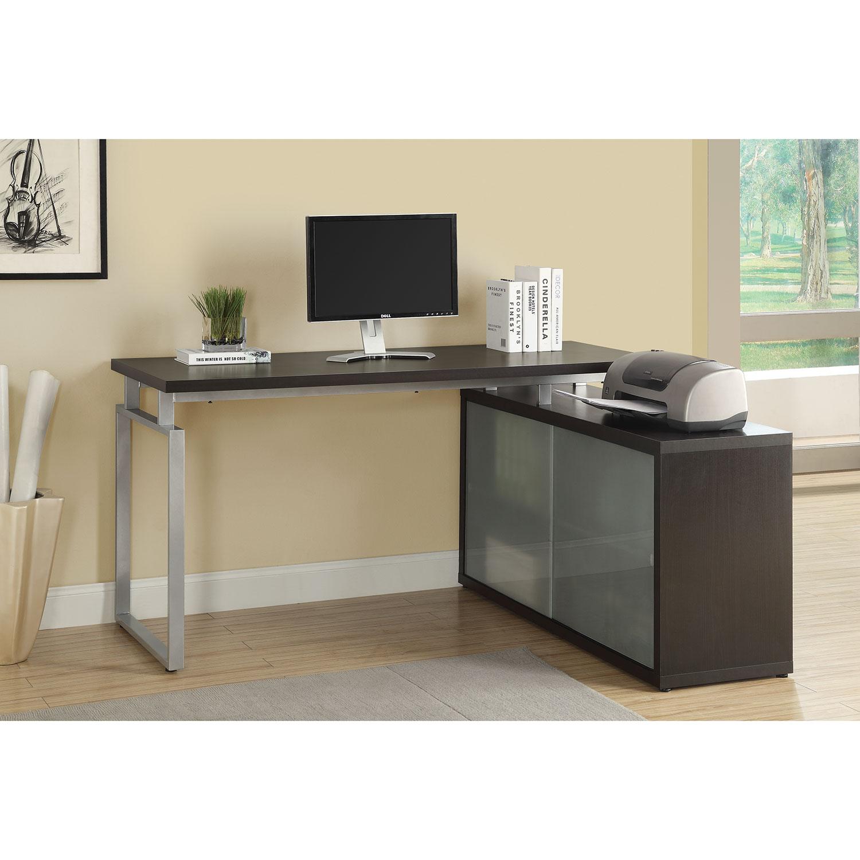 Corner Desk Cappucino Desks Workstations Best Buy Canada