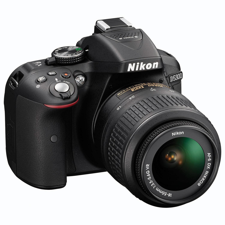 Nikon D5300 DSLR Camera with AF-S DX NIKKOR 18-55mm VR II Lens Kit ...