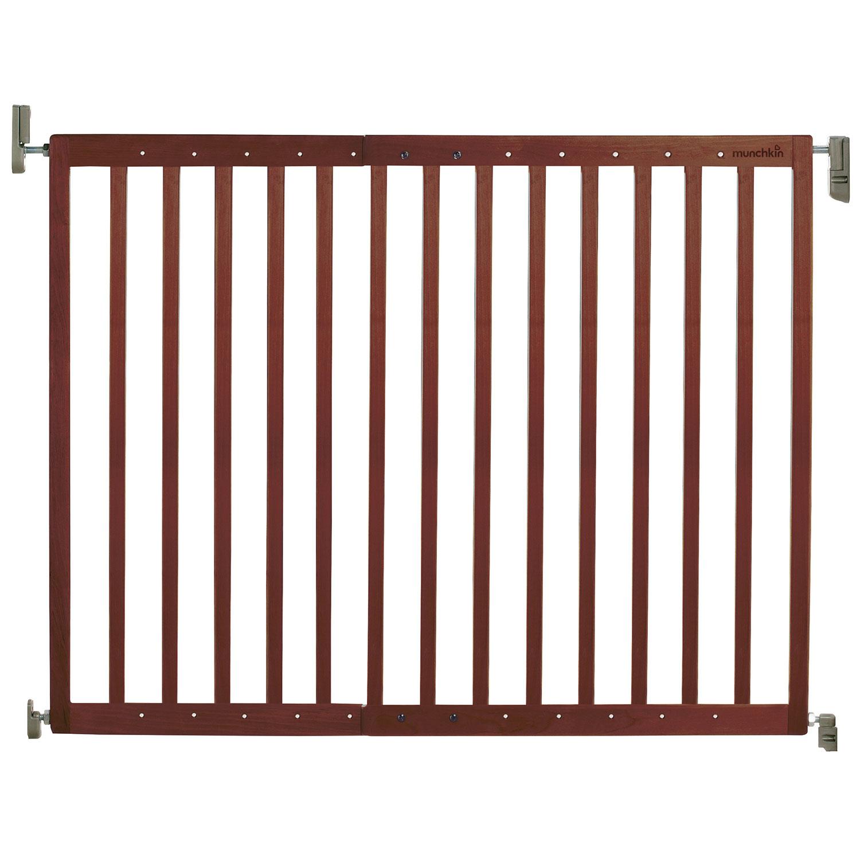 munchkin extending hardware mounted wood safety gate  dark brown  - munchkin extending hardware mounted wood safety gate  dark brown  safetygates  best buy canada