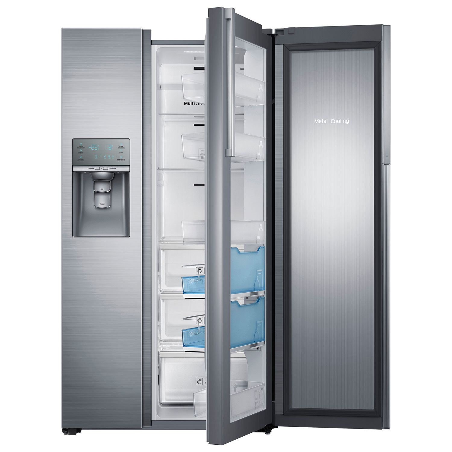 Samsung 357 215 Cu Ft Side By Side Counter Depth Refrigerator
