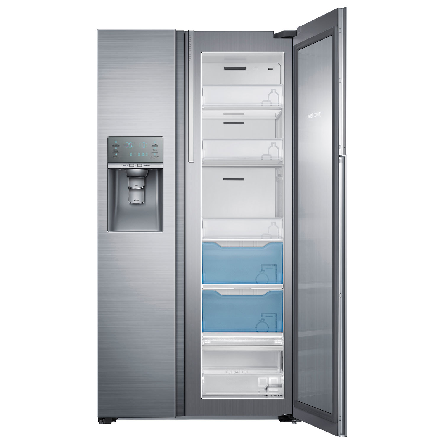 36 Refrigerators Samsung 357 215 Cu Ft Side By Side Counter Depth Refrigerator