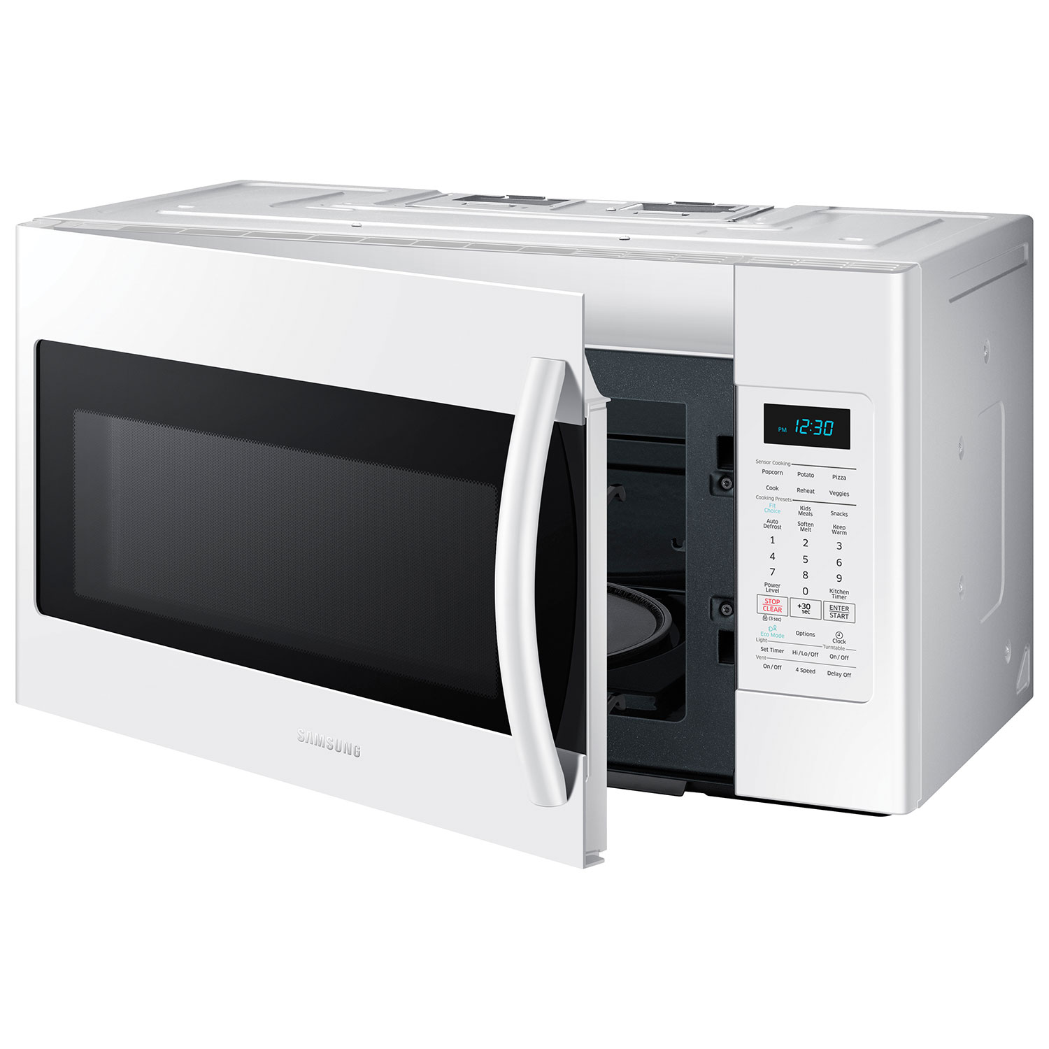 Home kitchen appliances microwaves over the range microwaves - Samsung Over The Range Microwave 1 8 Cu Ft White Over The Range Microwaves Best Buy Canada