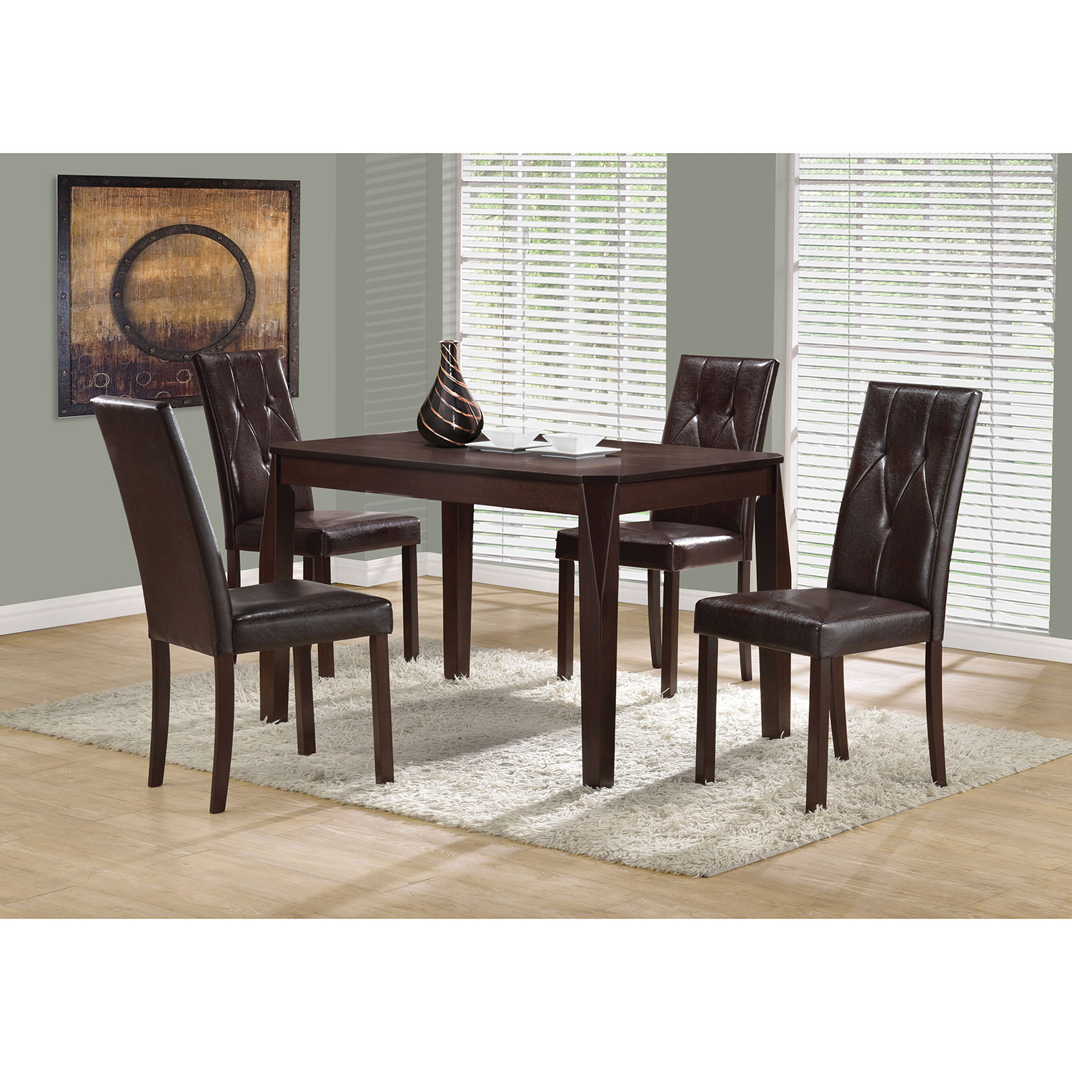 contemporary rectangular dining table  cappuccino  dining tables  - contemporary rectangular dining table  cappuccino  dining tables  bestbuy canada