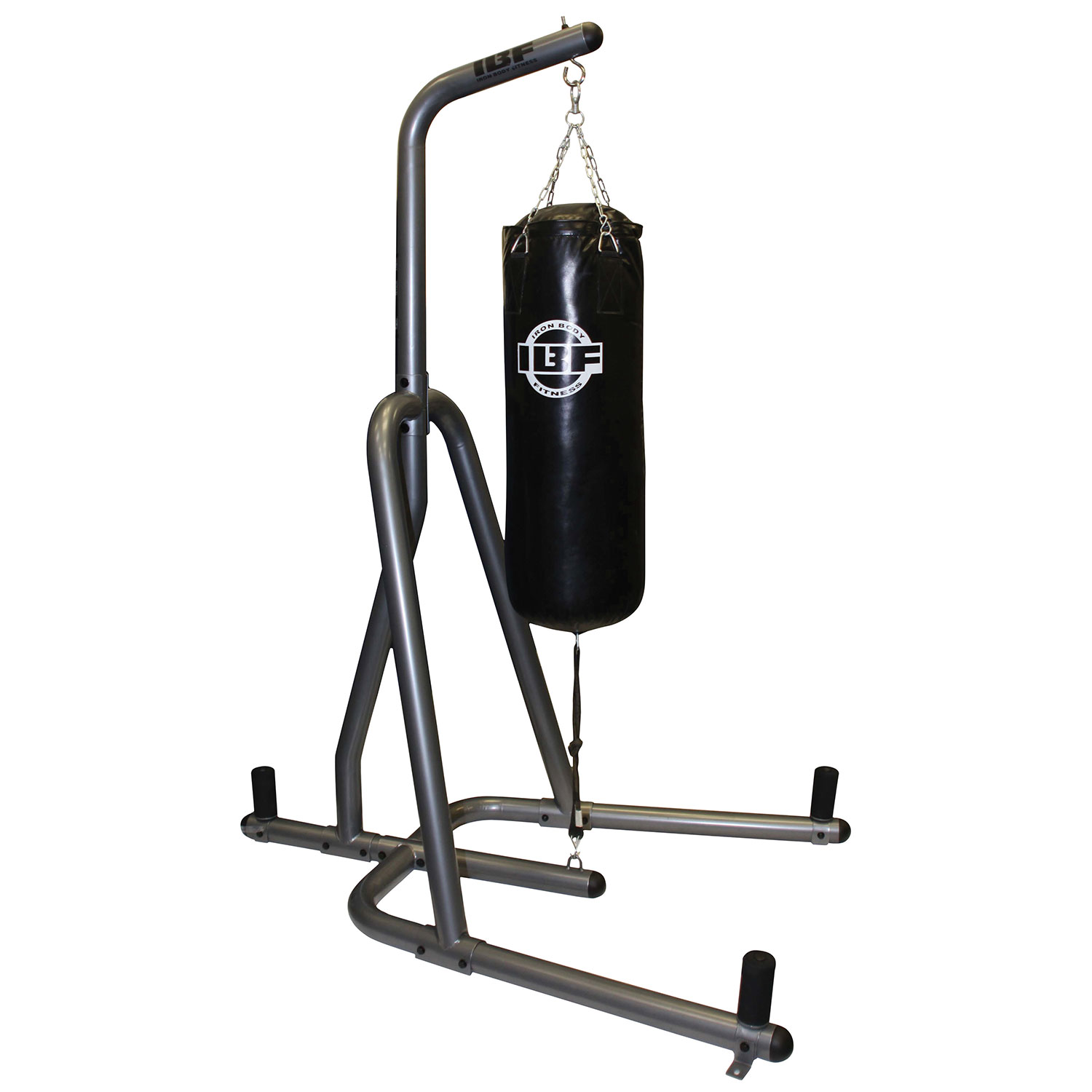 Iron Body Fitness 100 lb Heavy Bag Stand - Graphite  Black - Online Only 044bf49da