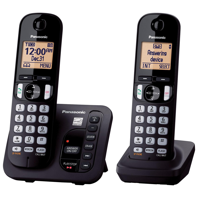 Panasonic 2 handset dect 60 cordless phone with answering machine panasonic 2 handset dect 60 cordless phone with answering machine kxtgc222b only at best buy cordless phones best buy canada m4hsunfo Gallery