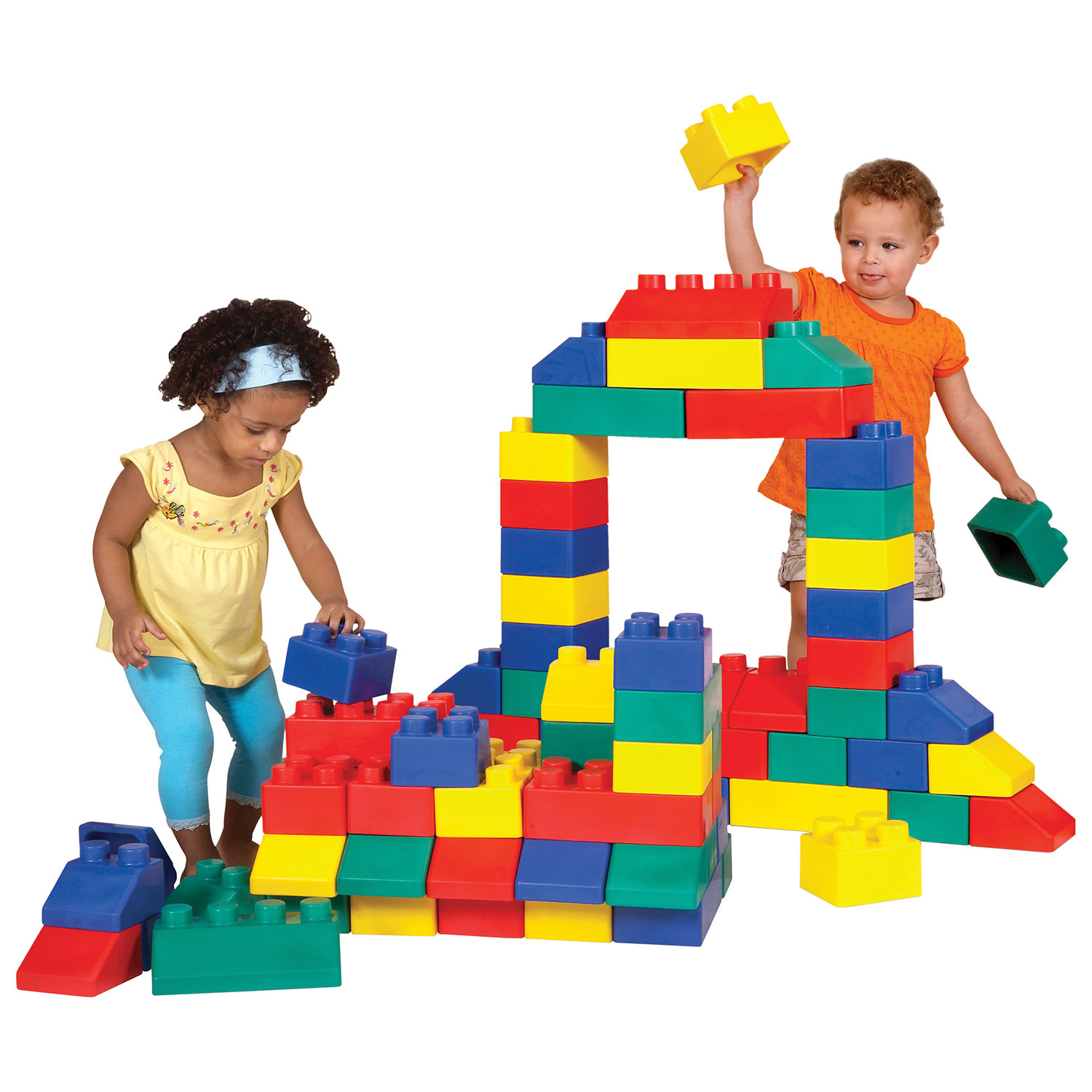 Edushape Edu Blocks EDU 50 Pack Assorted Stacking
