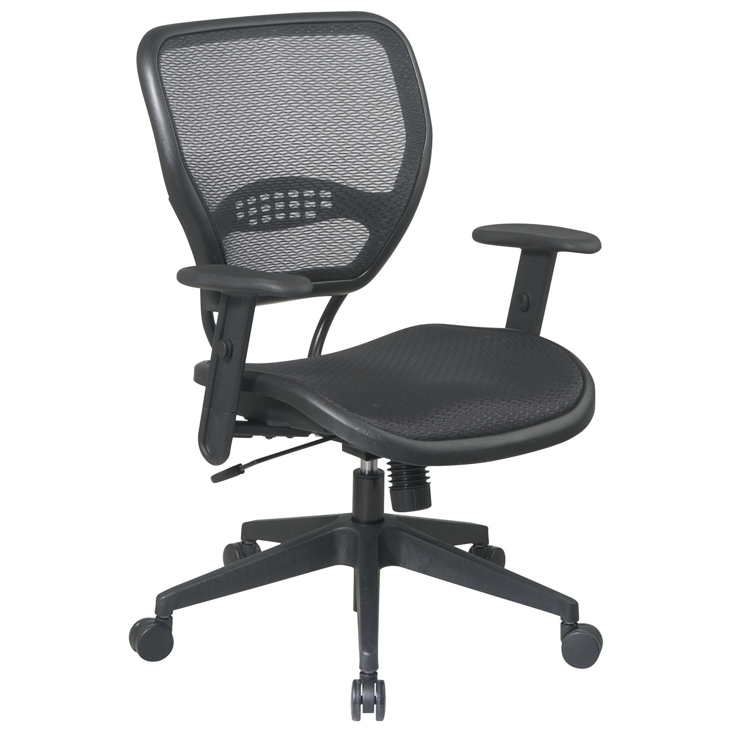 Office Star Professional Air Grid Deluxe Task Chair space seating airgrid office chair - black : office chairs - best