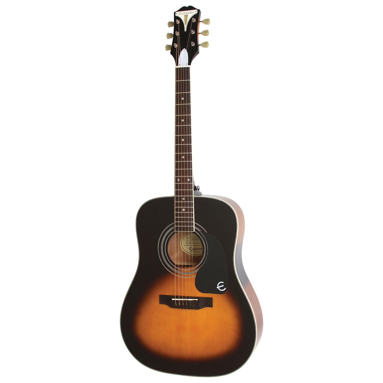 epiphone pro 1 plus acoustic guitar vintage sunburst acoustic