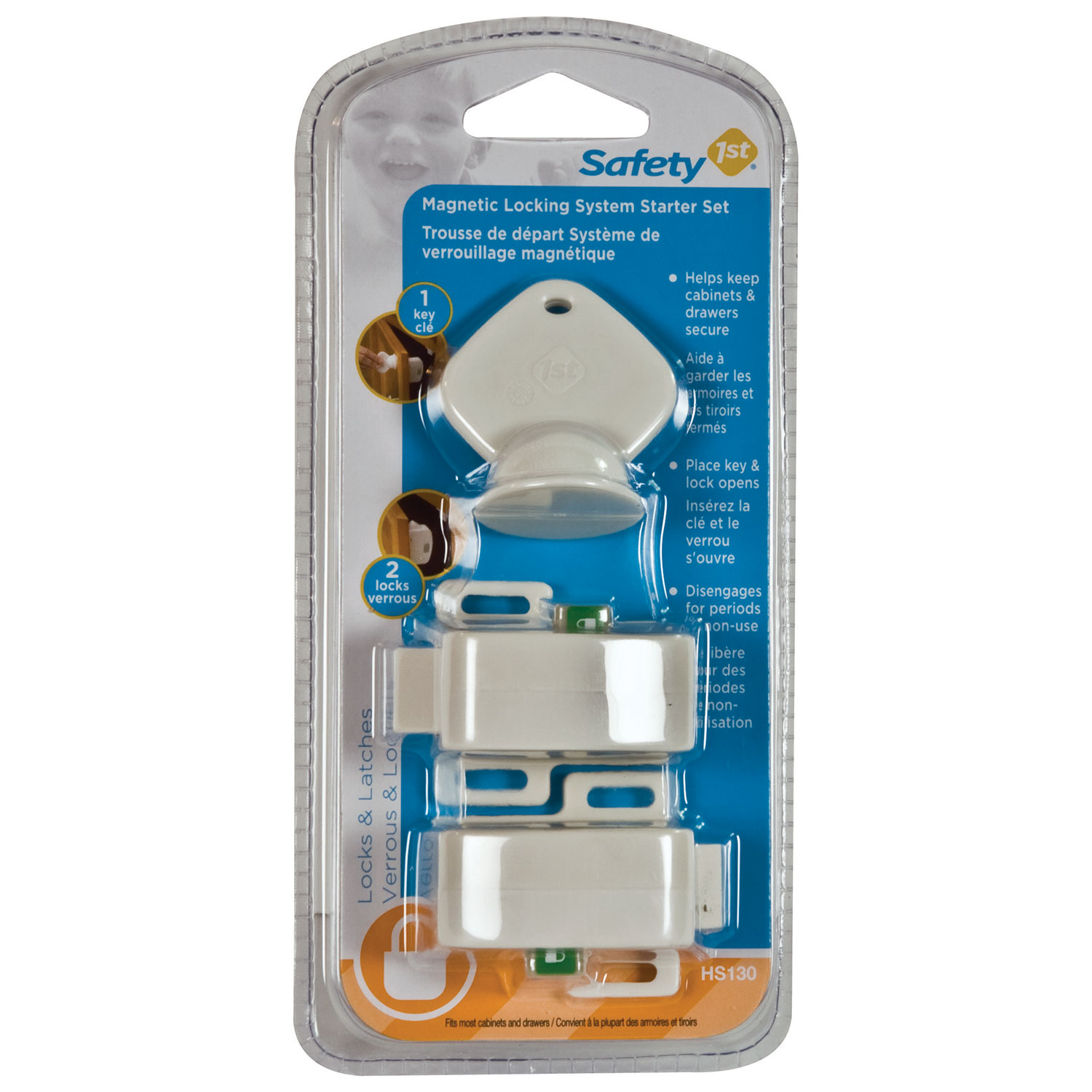 Safety 1st 8 lock complete magnetic locking system set safety 1st - Safety 1st Magnetic Locking System Starter Set 6 Months White Latches Locks Plugs Best Buy Canada