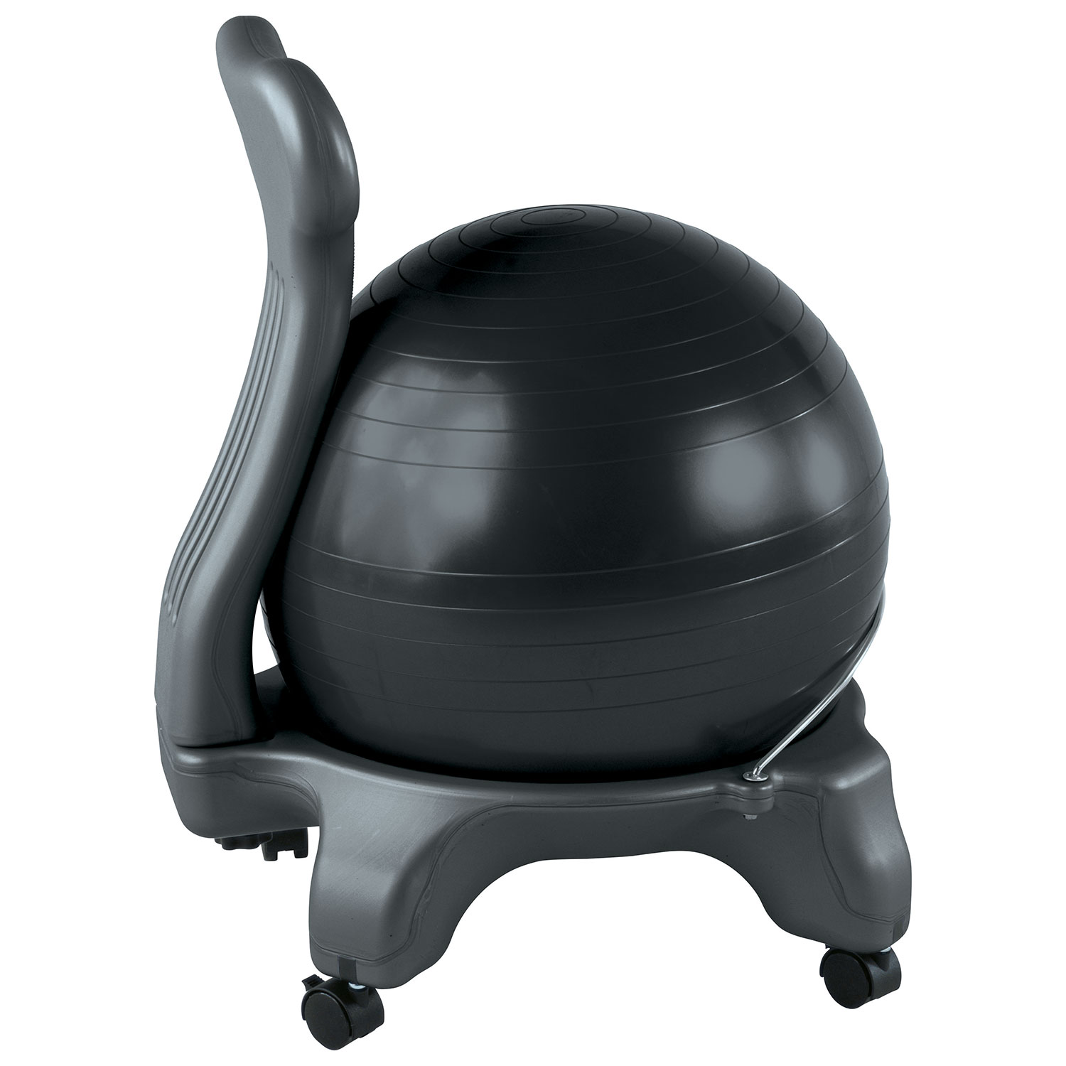 gaiam balance ball chair with dvd (zkockt6002cf) - charcoal