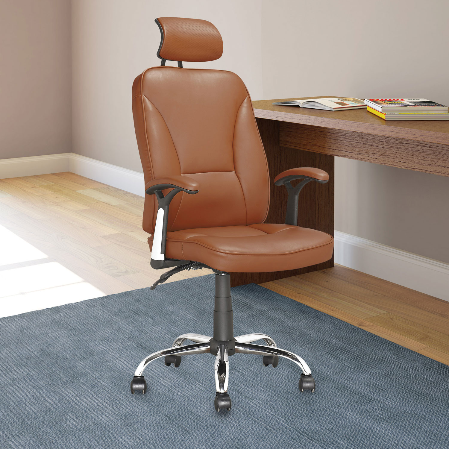Corliving Workspace Leatherette Manager & Executive Chair Light