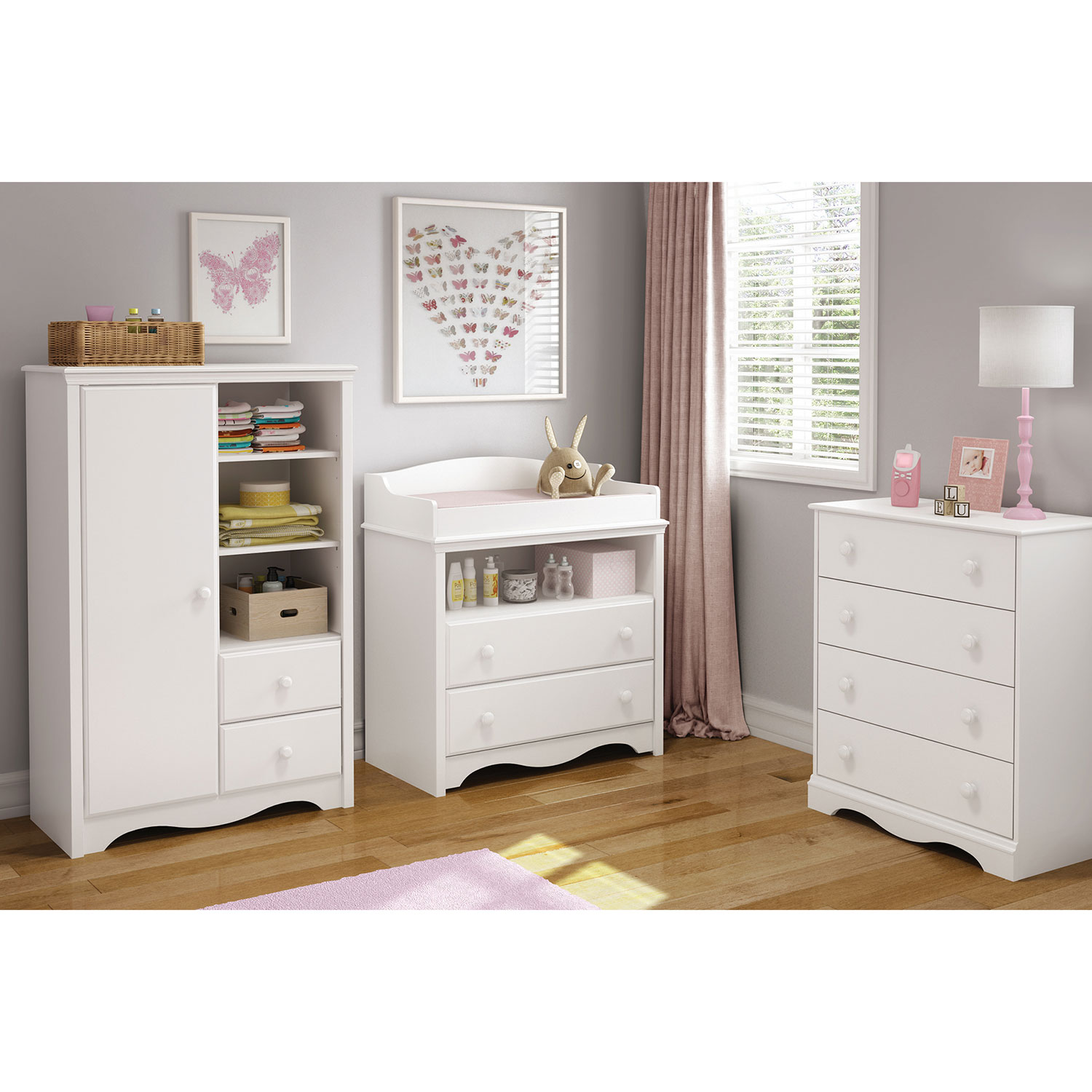 South Shore Heavenly Traditional Armoire Pure White Nursery