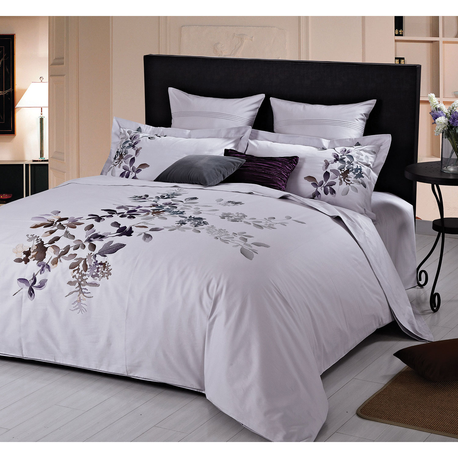 maholi rare orchids collection  thread count cotton percale  - maholi rare orchids collection  thread count cotton percale duvet coverset  queen  purple  duvet covers  sets  best buy canada