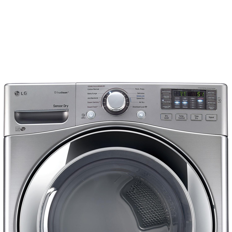 lg 74 cu ft electric steam dryer dlex3370v graphite steel dryers best buy canada