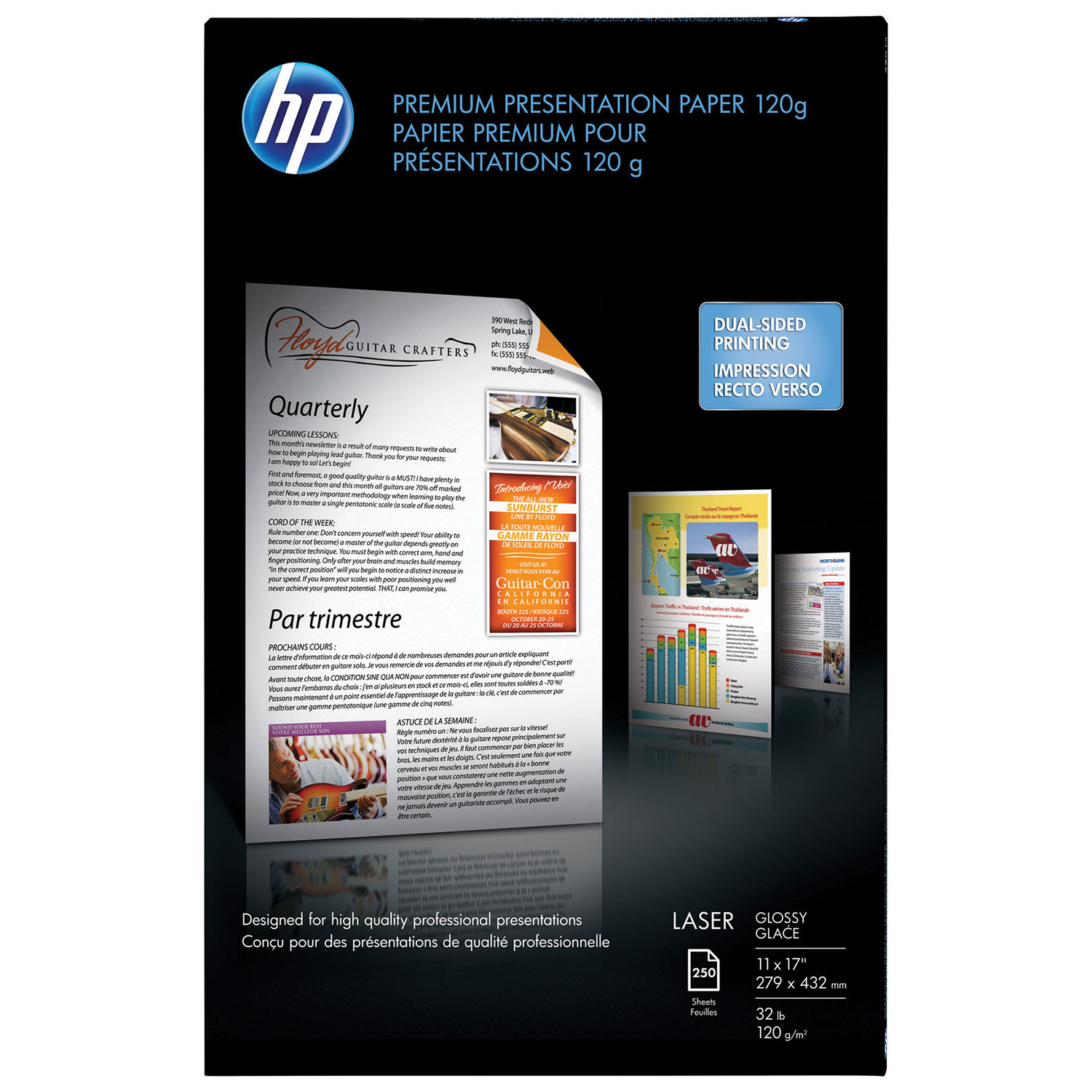 Hp hp color laser printers 11x17 - Hp 250 Sheet 11 X 17 Glossy Laser Paper White Multipurpose Paper Best Buy Canada