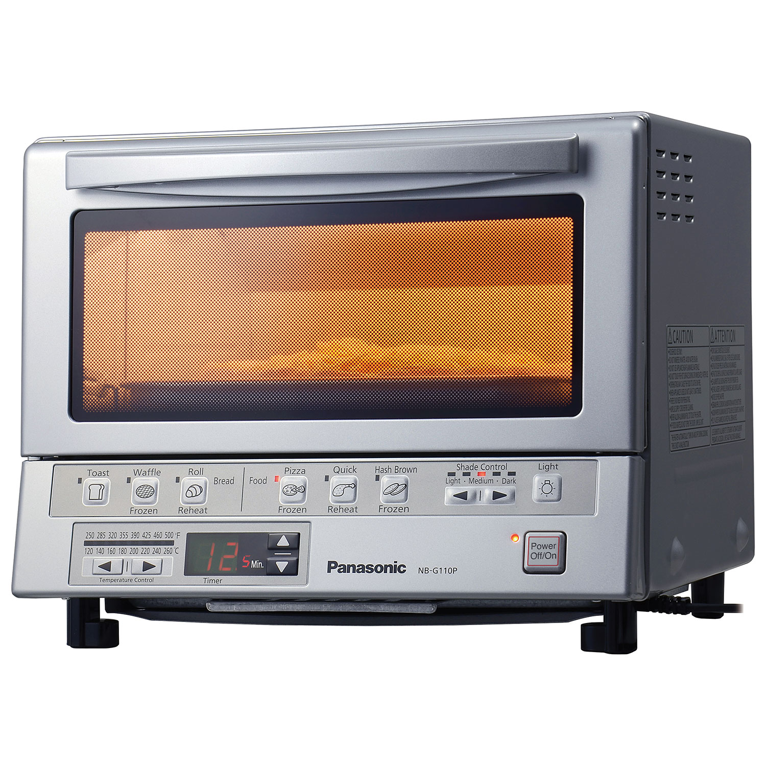 Panasonic Flashxpress Double Infrared Toaster Oven Nbg110p How Does Place Tiny Components On A Little Circuit Board Silver Ovens Best Buy Canada