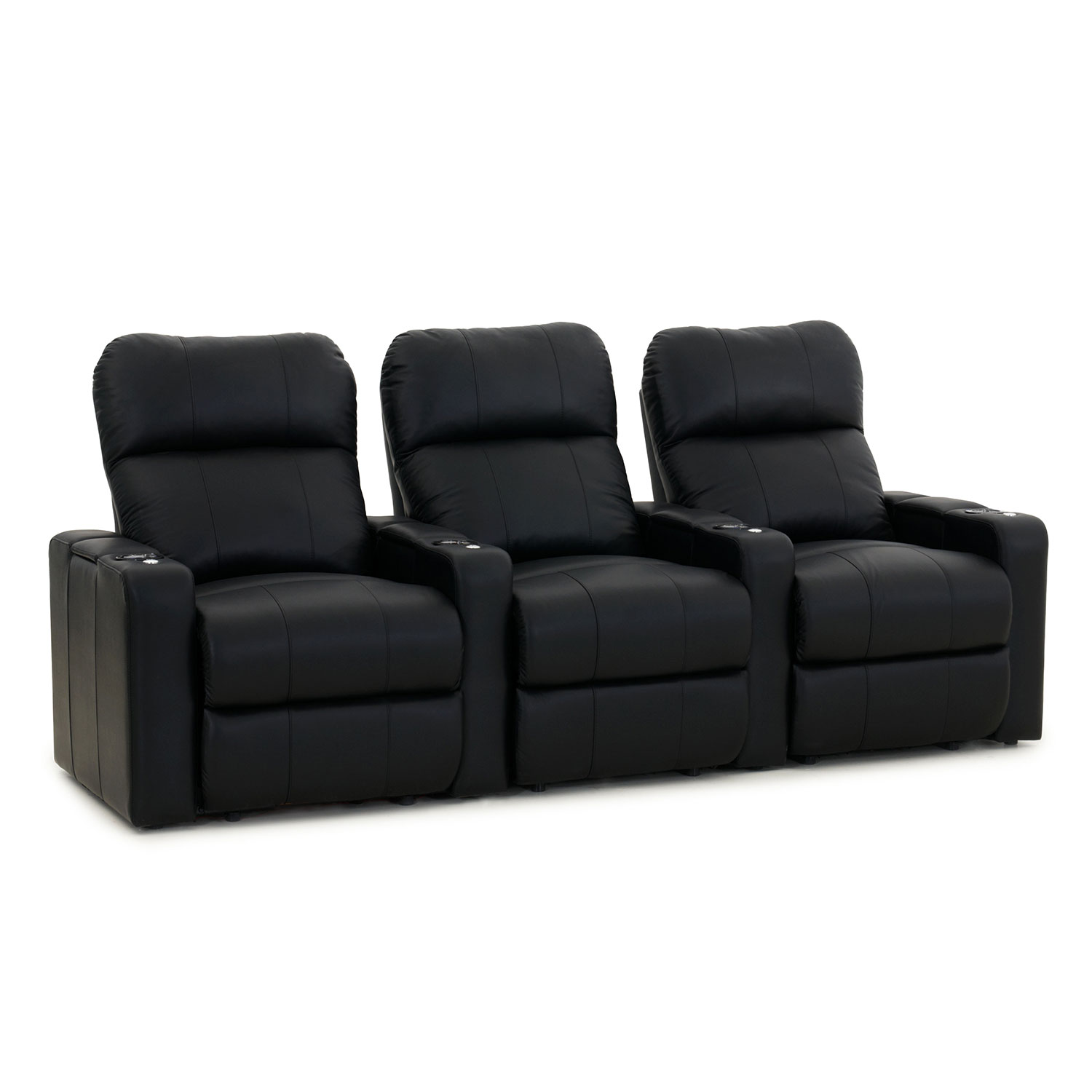 Turbo 3 Seat Bonded Leather Power Recliner Home Theatre Seating
