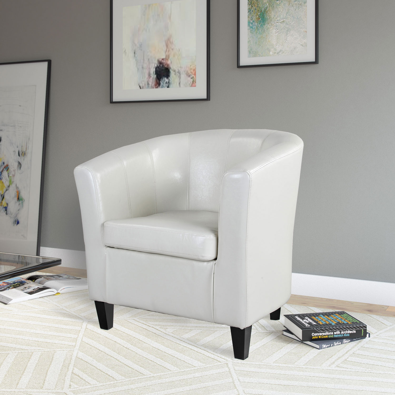 antonio transitional fabric curved back accent chair  cream white  - antonio transitional fabric curved back accent chair  cream white  accentchairs  best buy canada