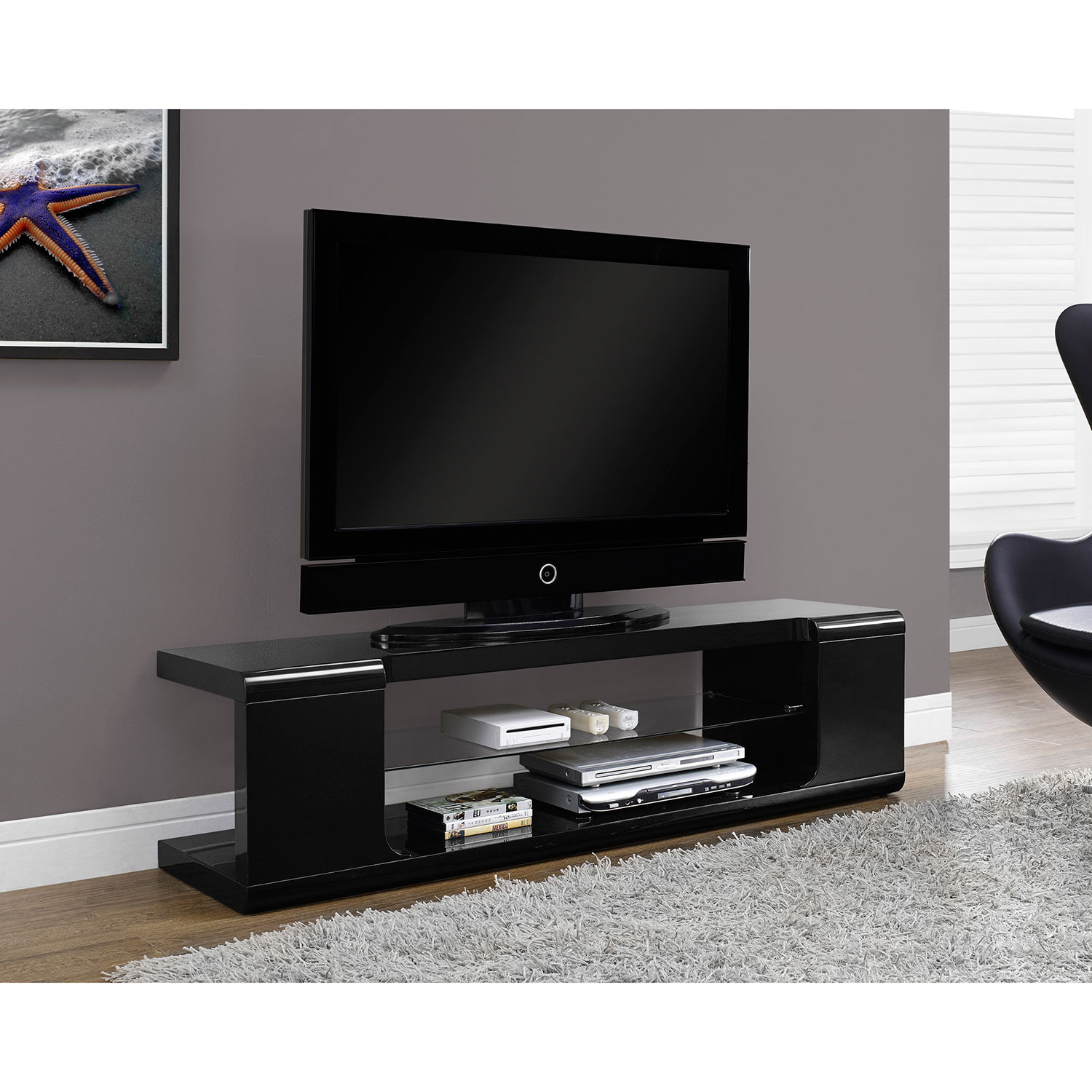 monarch tv stand for tvs up to  (i )  glossy black  tv  - monarch tv stand for tvs up to  (i )  glossy black  tv stands best buy canada