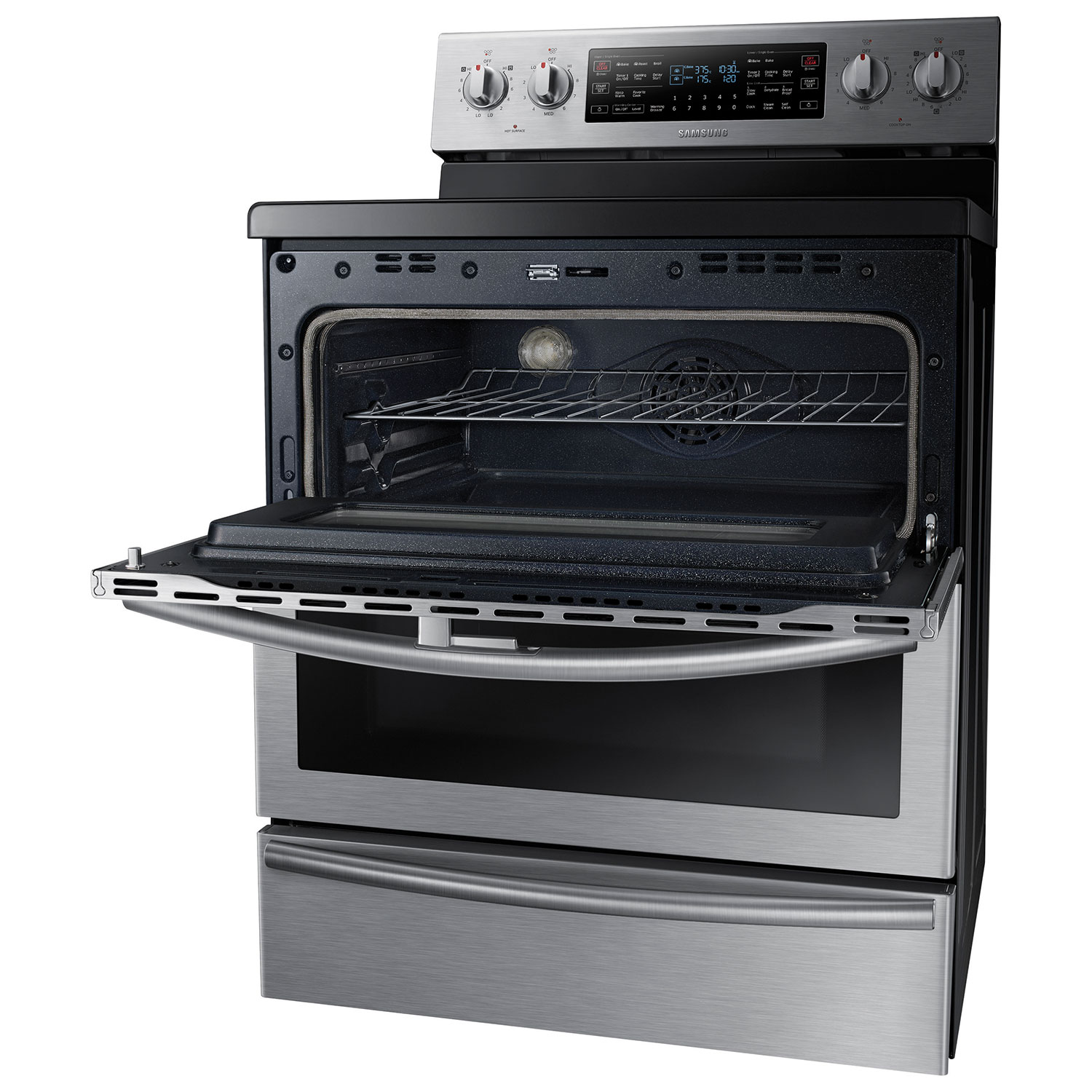 Samsung 30  5.9 Cu. Ft. Self-Clean Freestanding 5-Element Smooth Top Electric Range- Stainless Steel  Ranges - Best Buy Canada  sc 1 st  Best Buy Canada & Samsung 30