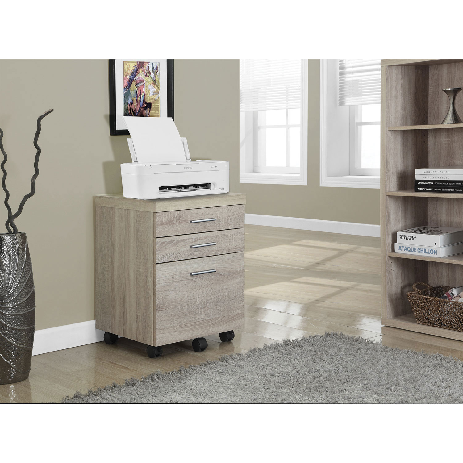 Monarch 3 Drawer Vertical Filing Cabinet   Natural : Filing Cabinets U0026  Office Storage   Best Buy Canada