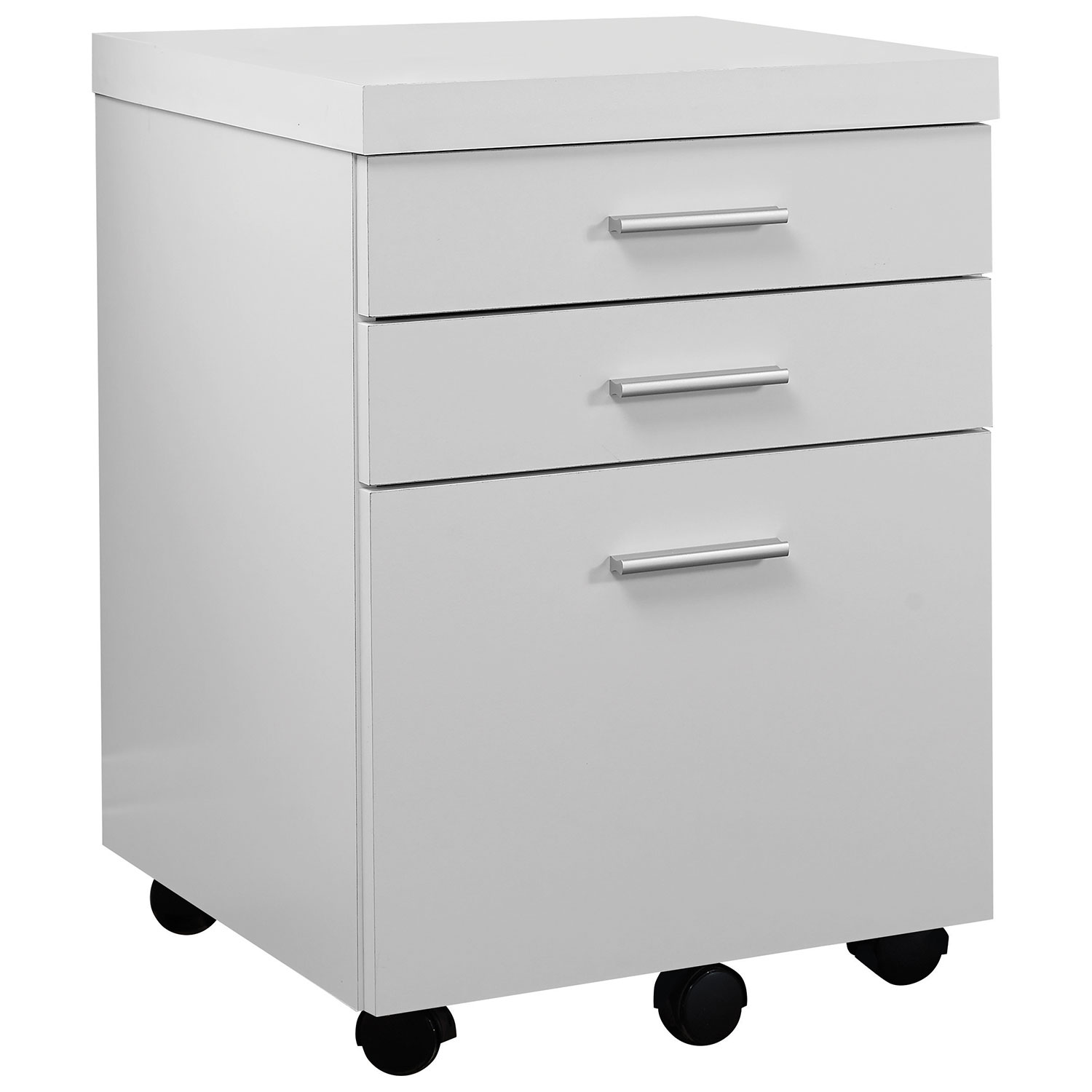 Monarch 3-Drawer Vertical File Cabinet - White : Filing Cabinets ...