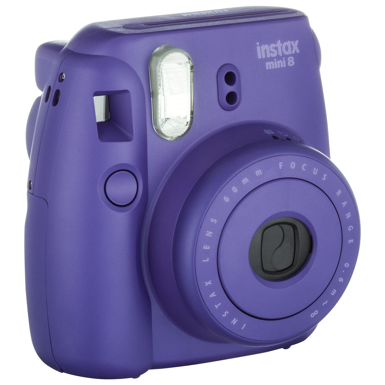 Fujifilm Instax Mini 8 Instant Camera Kit - Purple : Instant ...