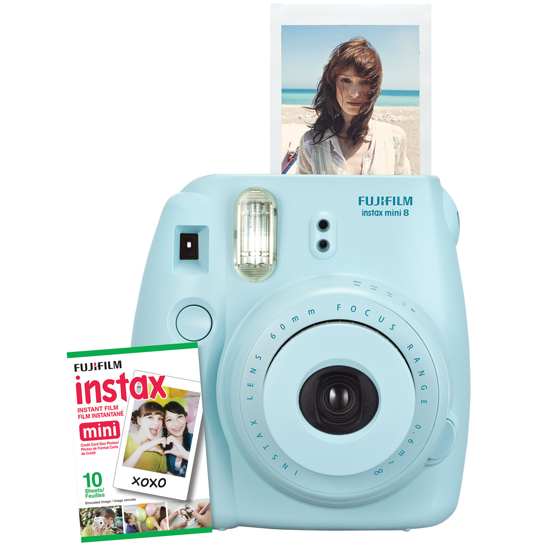 Fujifilm Instax Mini 8 Instant Camera Kit - Blue : Instant Cameras ...