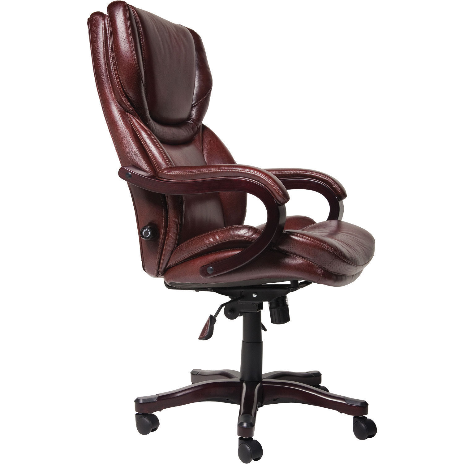 Office chairs for big and tall - Thomasville Big Tall Bonded Leather Manager Executive Chair Brown Office Chairs Best Buy Canada