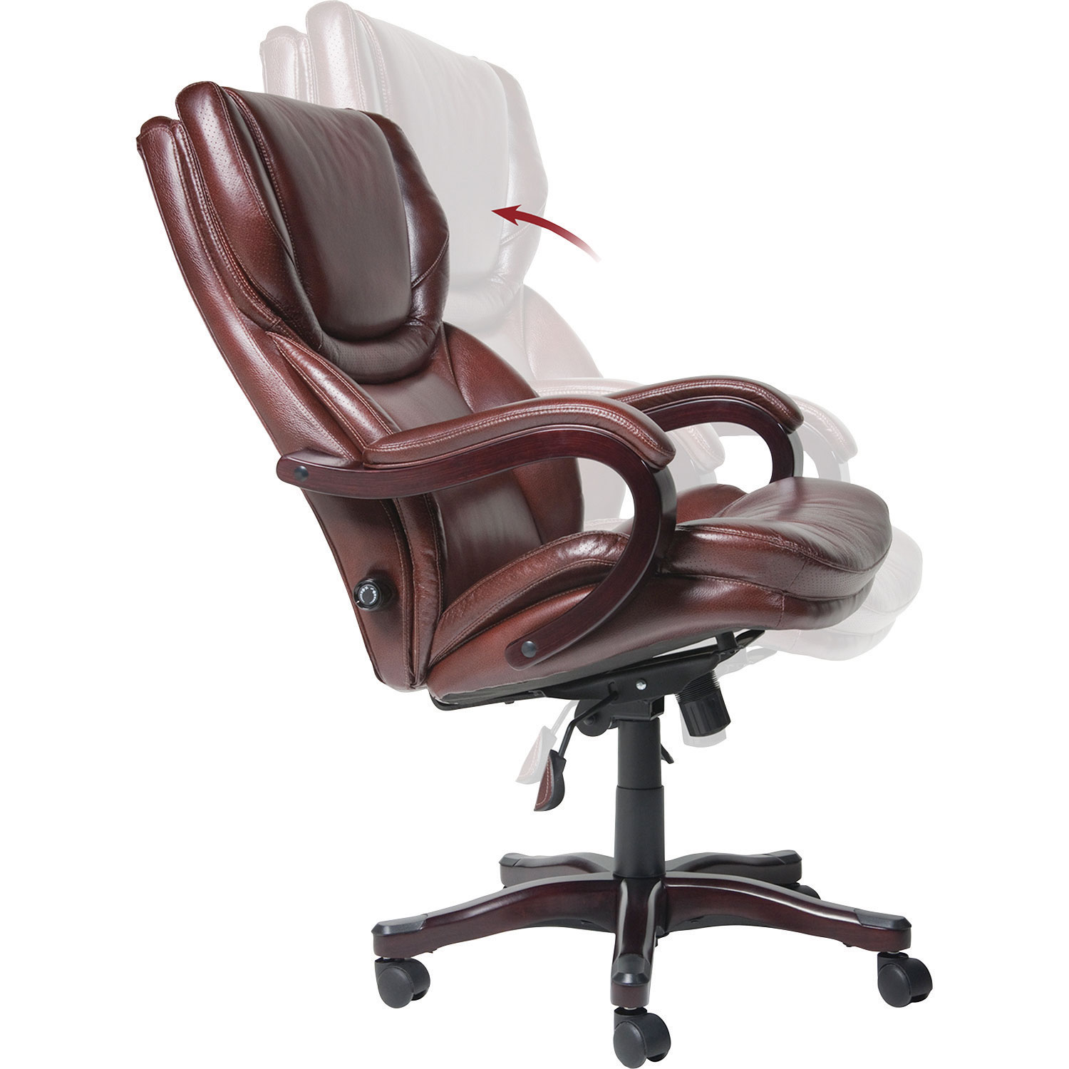 Thomasville Big Tall Bonded Leather Manager Executive Chair